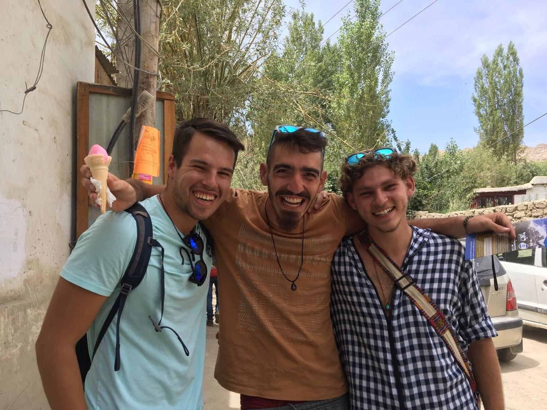 Eric met these guys in Leh last week.