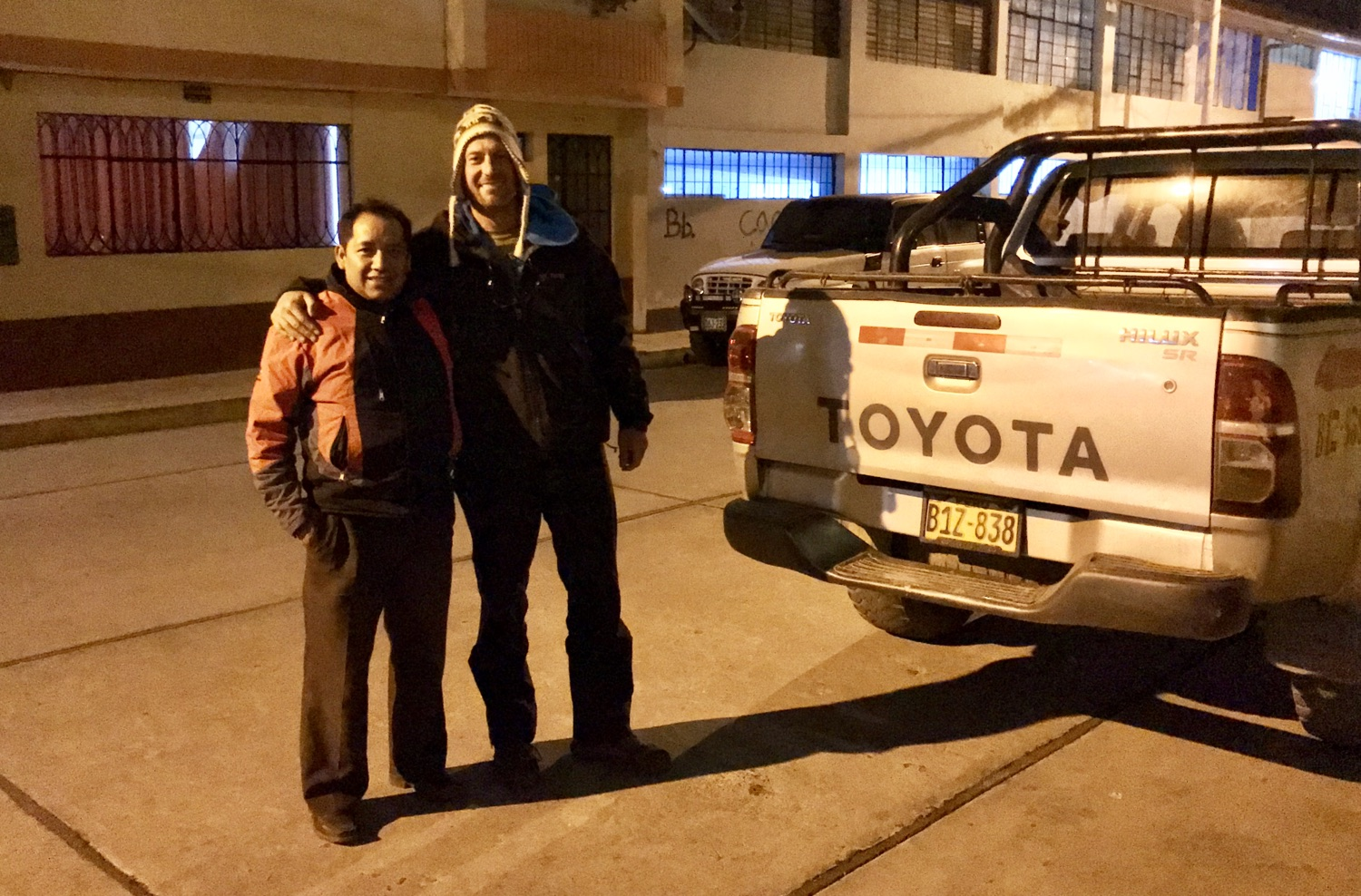 Fernando and his trusty Toyota Hilux have taken us many places down here.