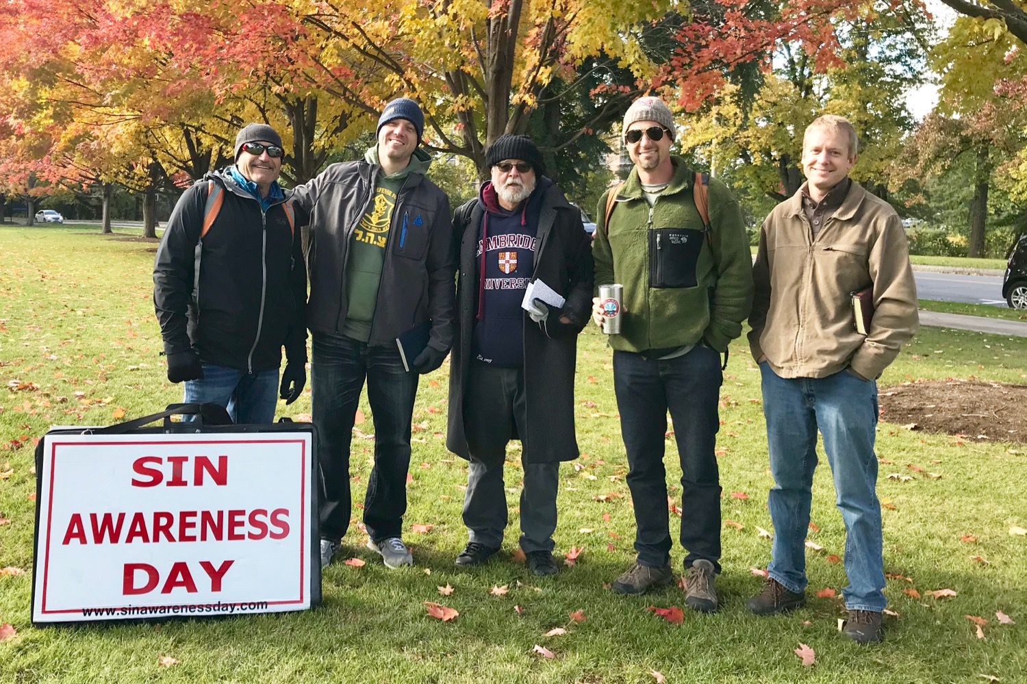 It was a great team of preachers at Rochester University and downtown Rochester, NY on a crisp autumn day.