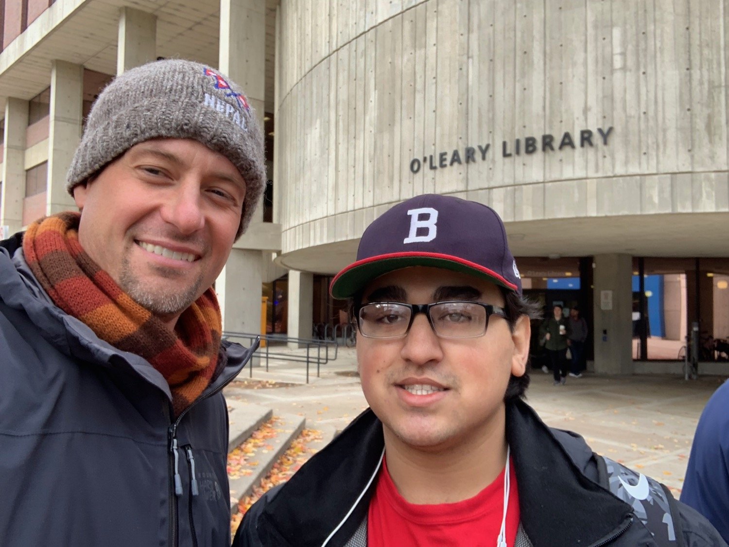 It was a crazy day on the campus of UMass-Lowell, but I did get to share with this curious student from Nepal.