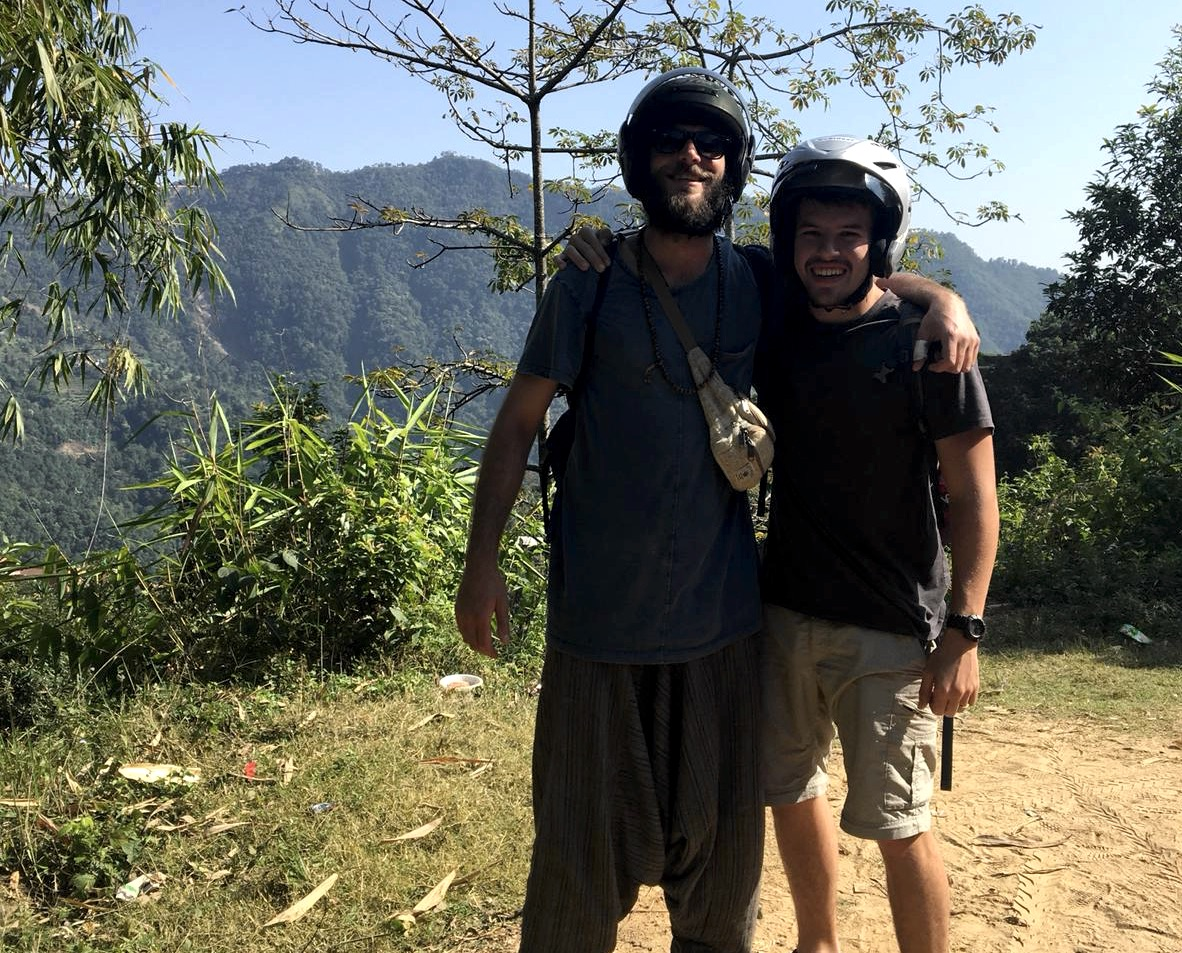 Eric and Andy from Boston way out somewhere in Nepal
