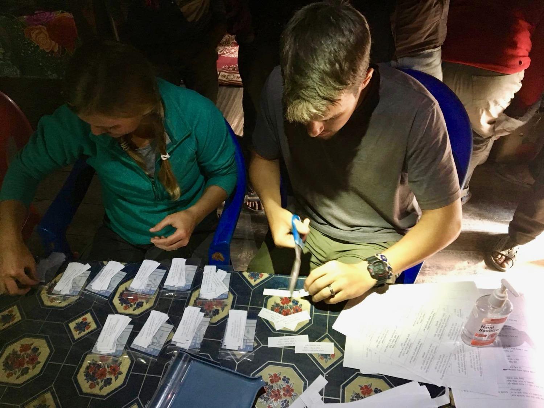 Preparing Medicine for Distribution to Gentile Villagers