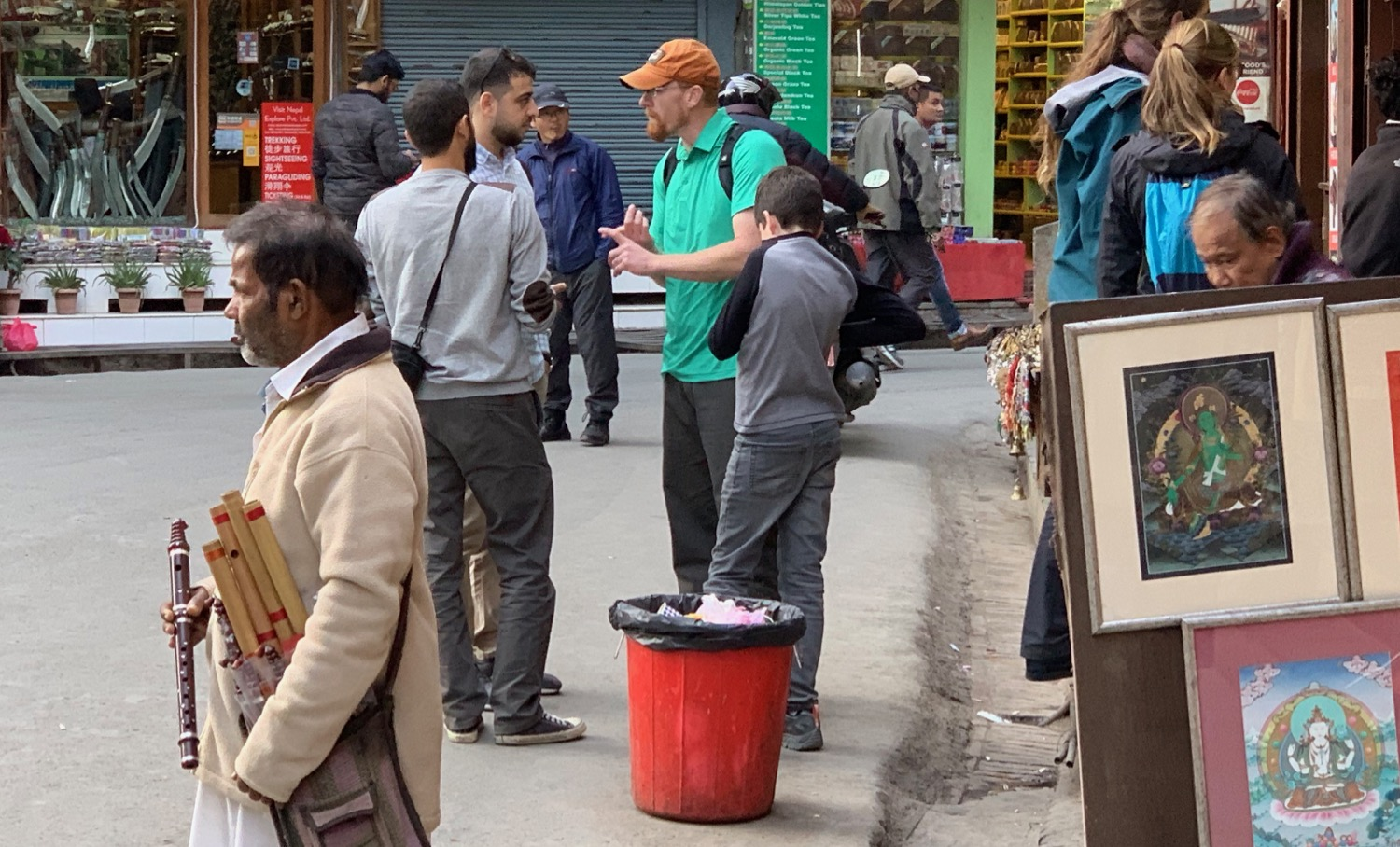 In Kathmandu's Thamel, God's Word is shared with two Arabic young men from Jordan, Israel's neighbor.