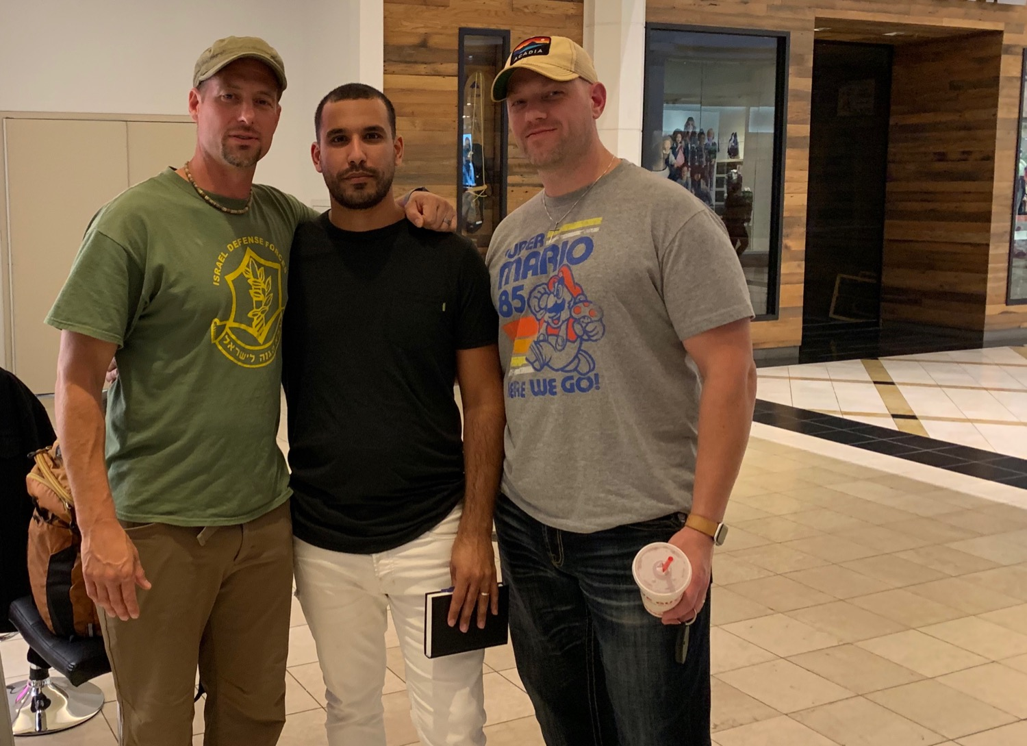 We met this young man from Israel in a Pennsylvania mall last October.