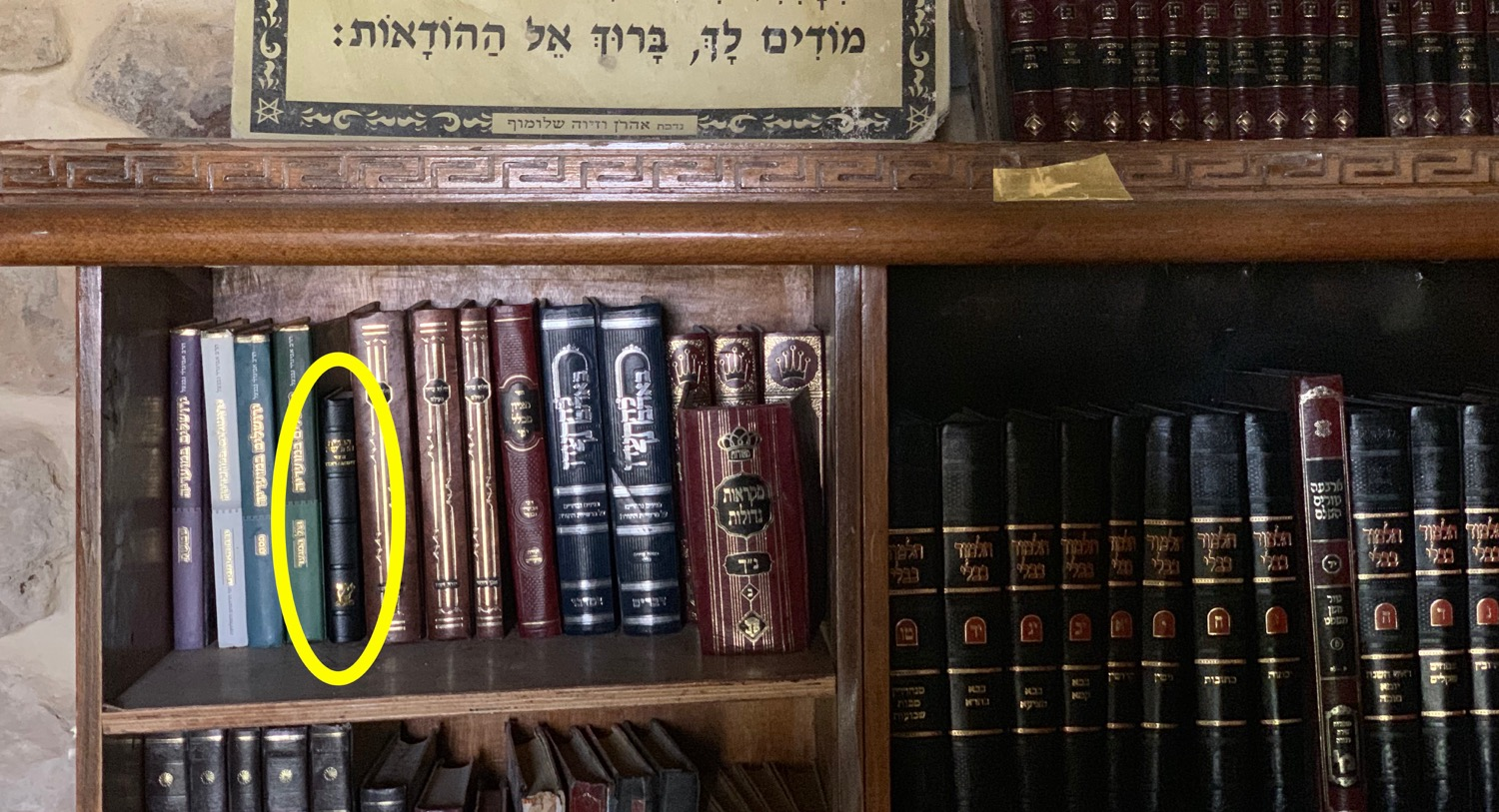 Famine Relief = A Strategically Placed New Testament in a Hebron Synagogue near the Tomb of Jesse