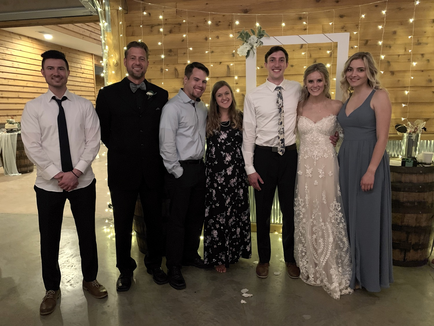 What better place is there to reconnect with old Team Yeshua friends than at a wedding? From L to R: Jay Lems (2016, 2017), Jesse Boyd, Eric Trent (2015), Mindy Trent (2015, 2016), Kyle Stengel (2016, 2017), Alexis Stengel (2015, 2017), and Emile Petruk (2015).
