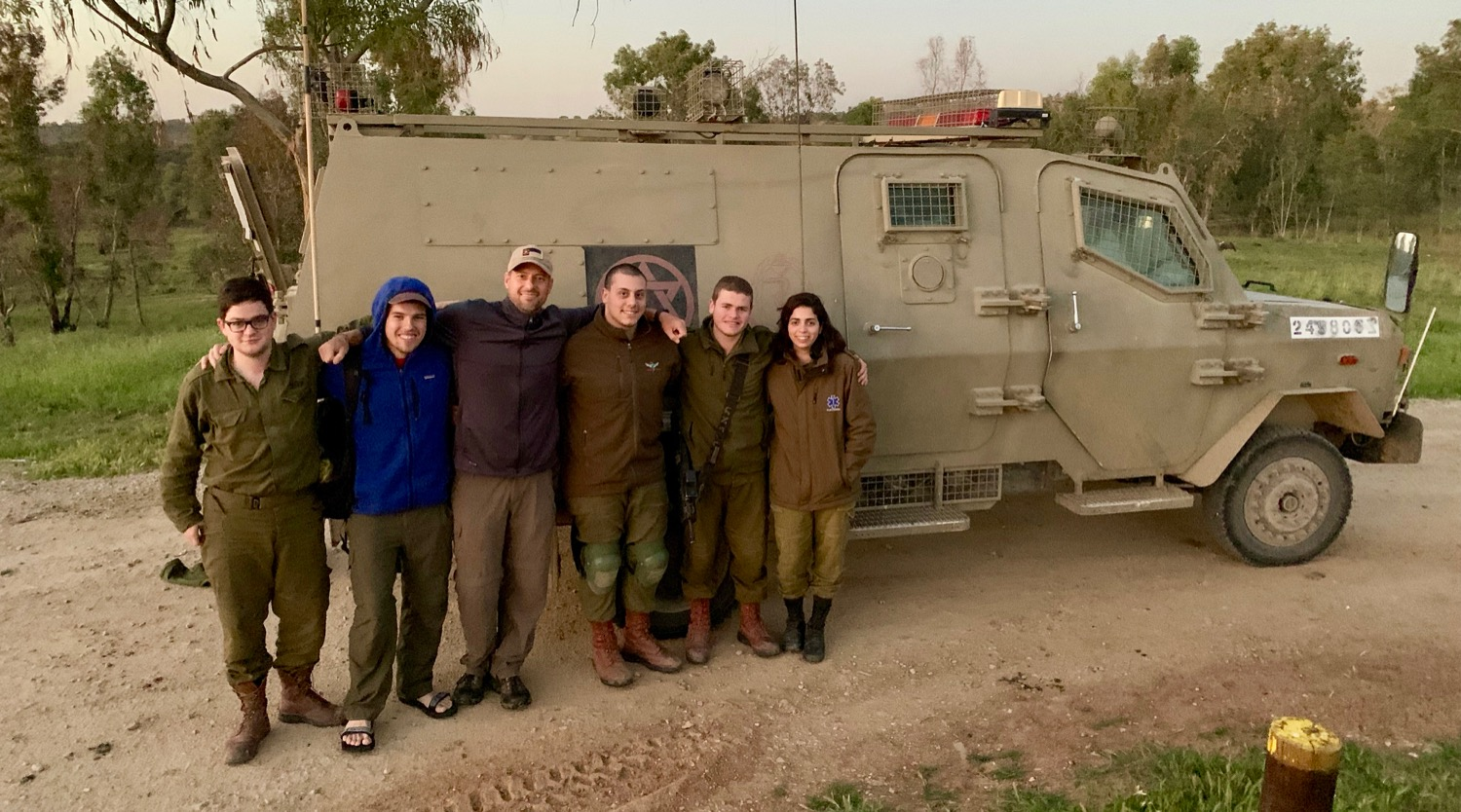 We shared with these IDF soldiers right near the border of the Gaza Strip.