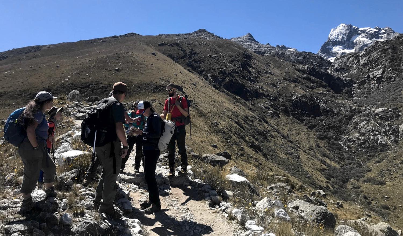 Sharing with Israeli Backpackers on the Trail to Laguna Churup