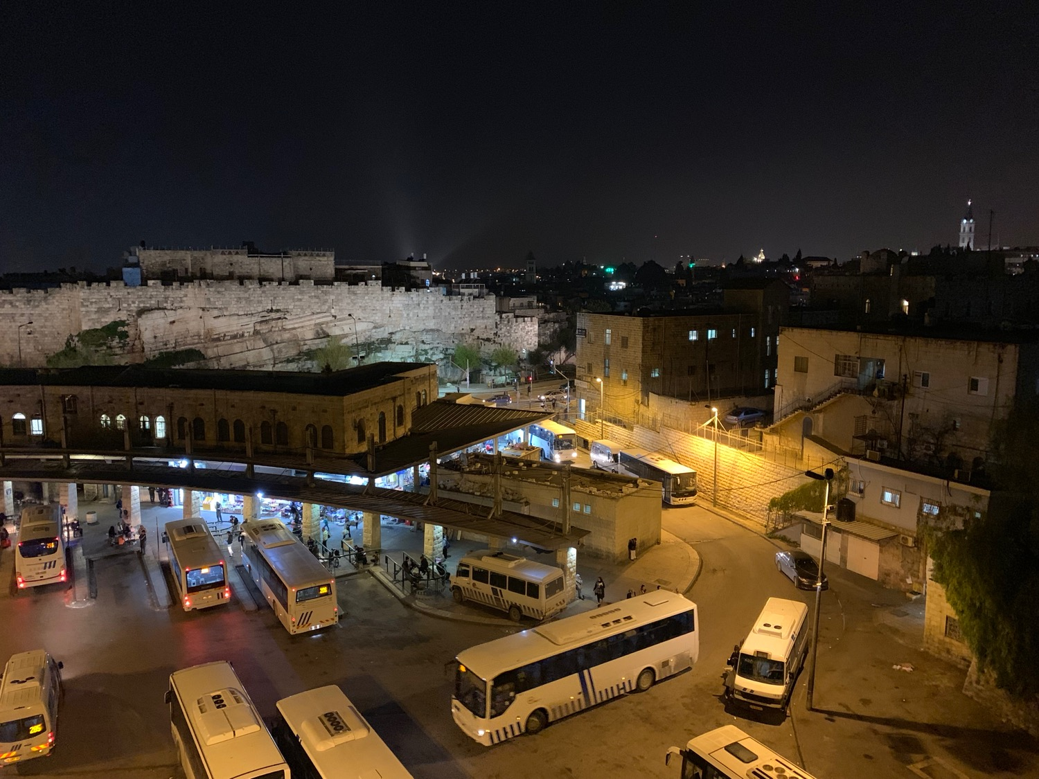 At the site of this modern-day Arab bus station way back in AD 30, the sky went dark and a feast was turned into mourning, just like the Prophet said more than 700 years before Christ was born.