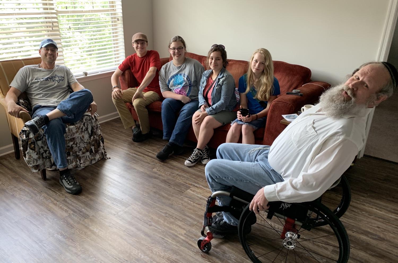 The team visited an Israeli War Veteran in Charlotte before departing for Peru.