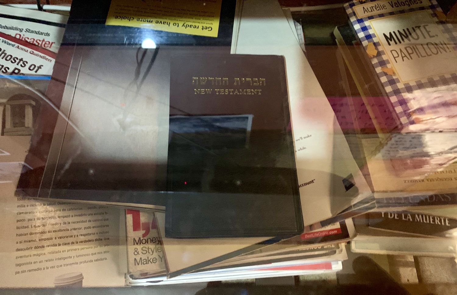 An unsaved Gentile cared enough about this Hebrew New Testament left on the bookshelf at his hostel last year that he brought it along to place with the reading material at his new guesthouse.