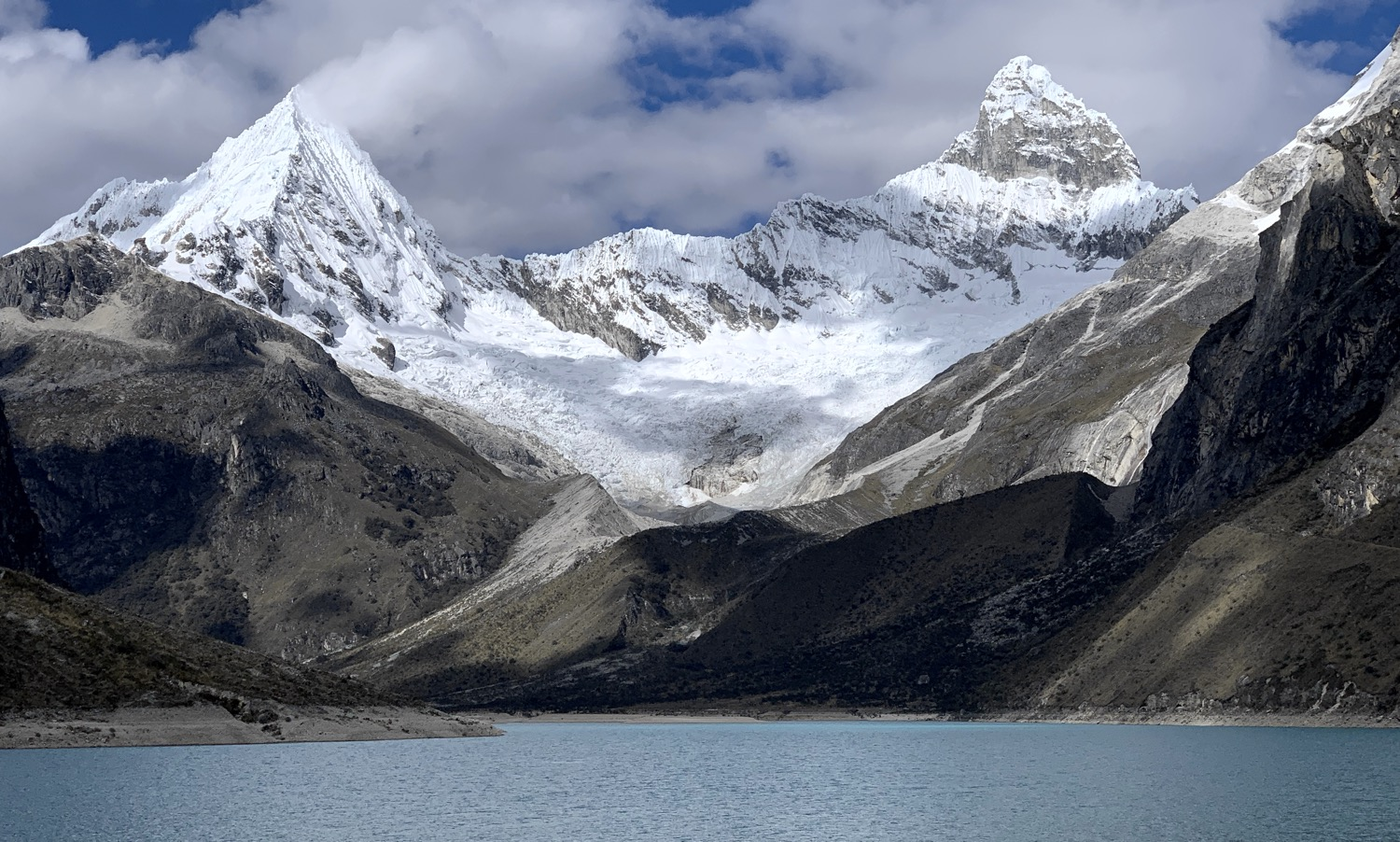 Laguna Paron at 13,750 ft. is amazing. I believe that is the famous Paramount Pictures peak on the left.