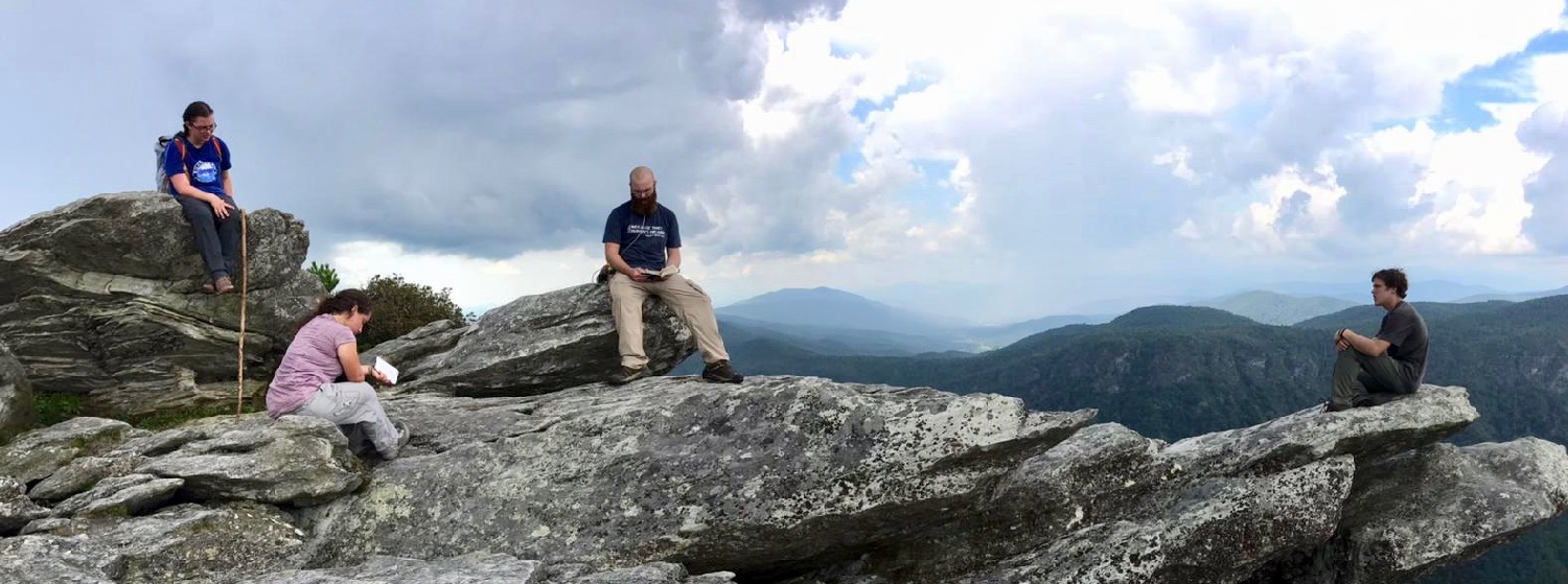 One of the last training sessions was conducted by Brandon Gwaltney atop Hawksbill Peak back in NC.