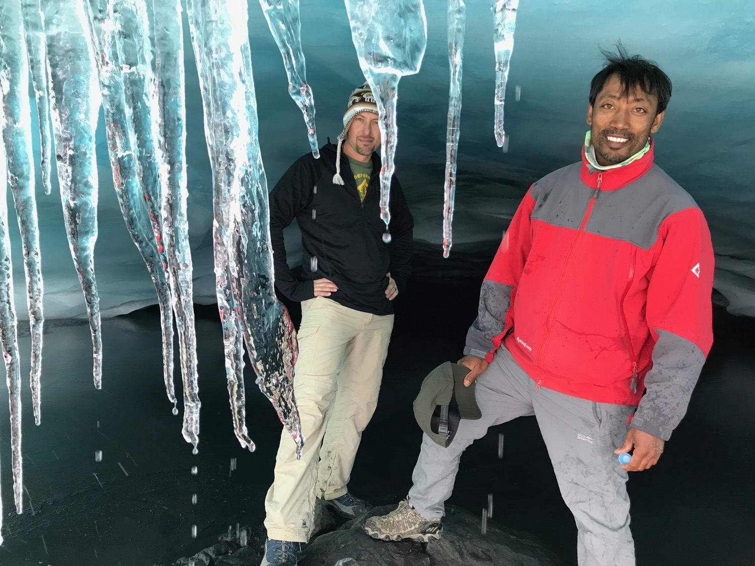 This sweet ice cave that Brother Bishnu from Nepal and I explored in 2018 no longer exists at Pastoruri.