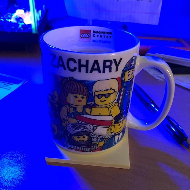 I'm still rocking this @lego coffee mug as an adult! It's from the @mallofamerica when I was a little kid. Probably like 20 some years ago. #lego #coffee #chaitea #moa #mallofamerica #zachary