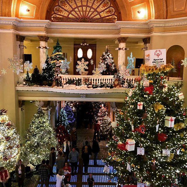 #Christmas at the #southdakotastatecapitol #christmasatthecapitol #trees #lights #christmaslights @southdakota #christmastree #pierre #merrychristmas