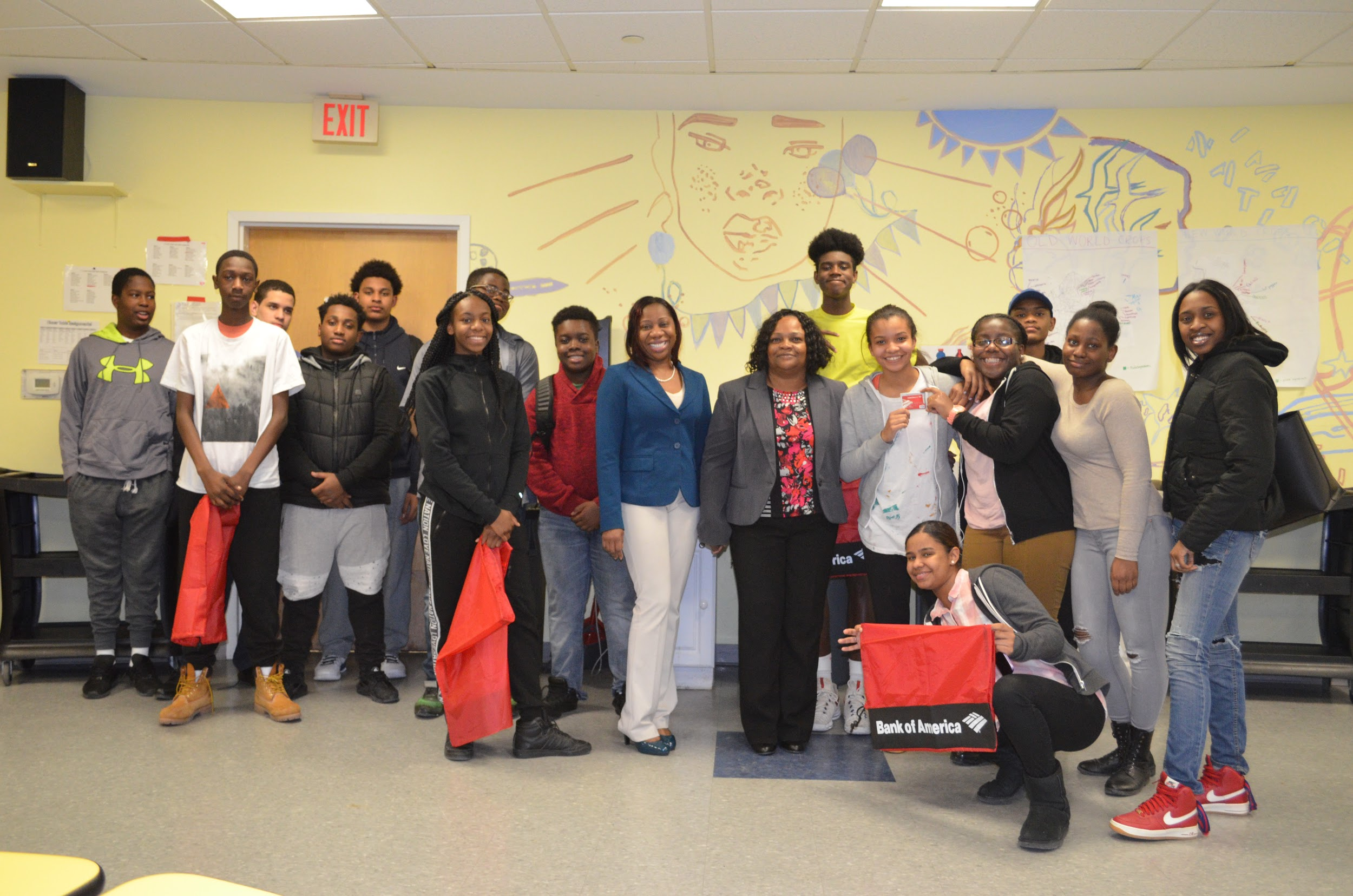 - Epiphany grads with the Bank of America representatives