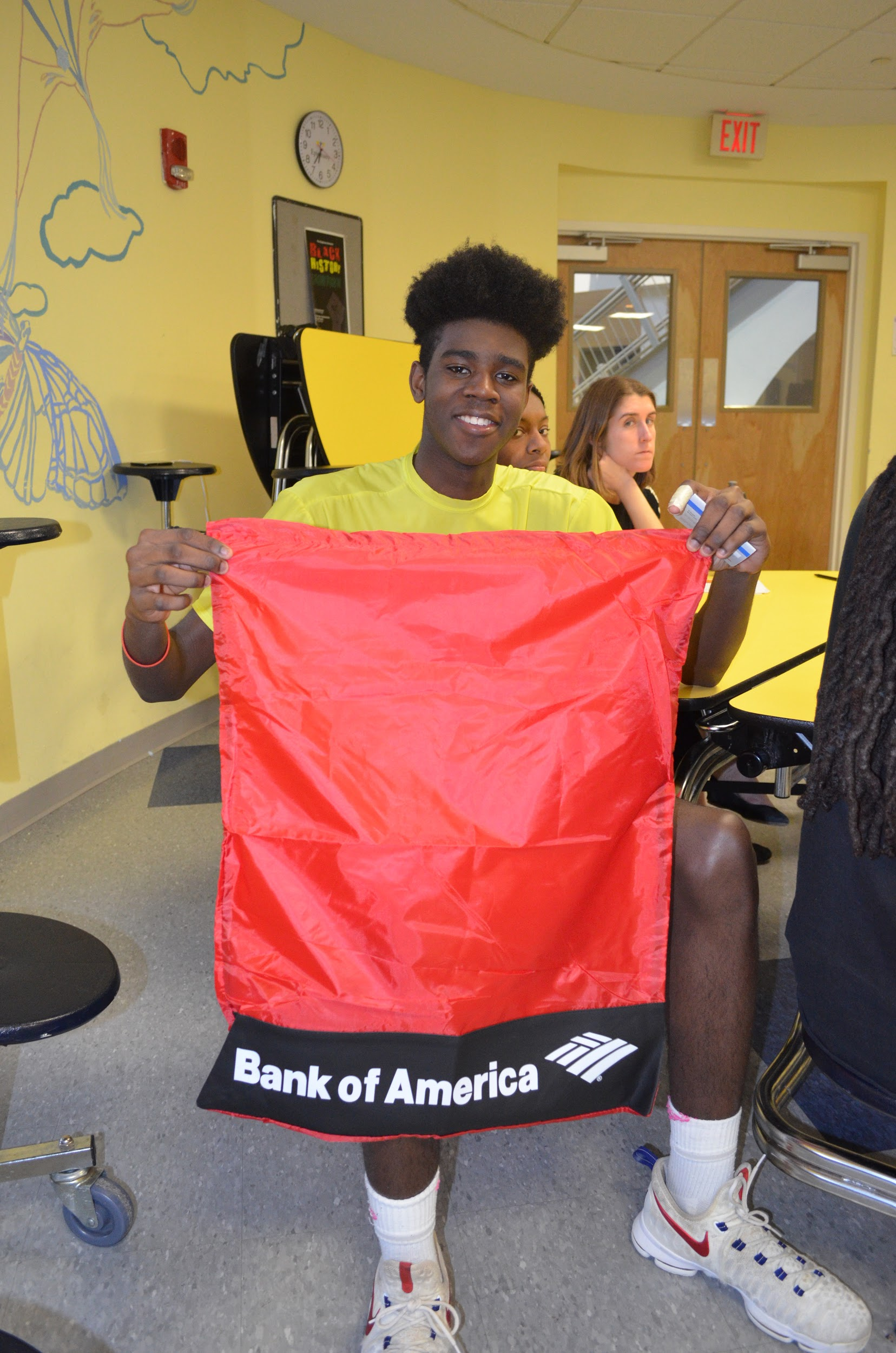 Krischon with his Bank of America laundry bag