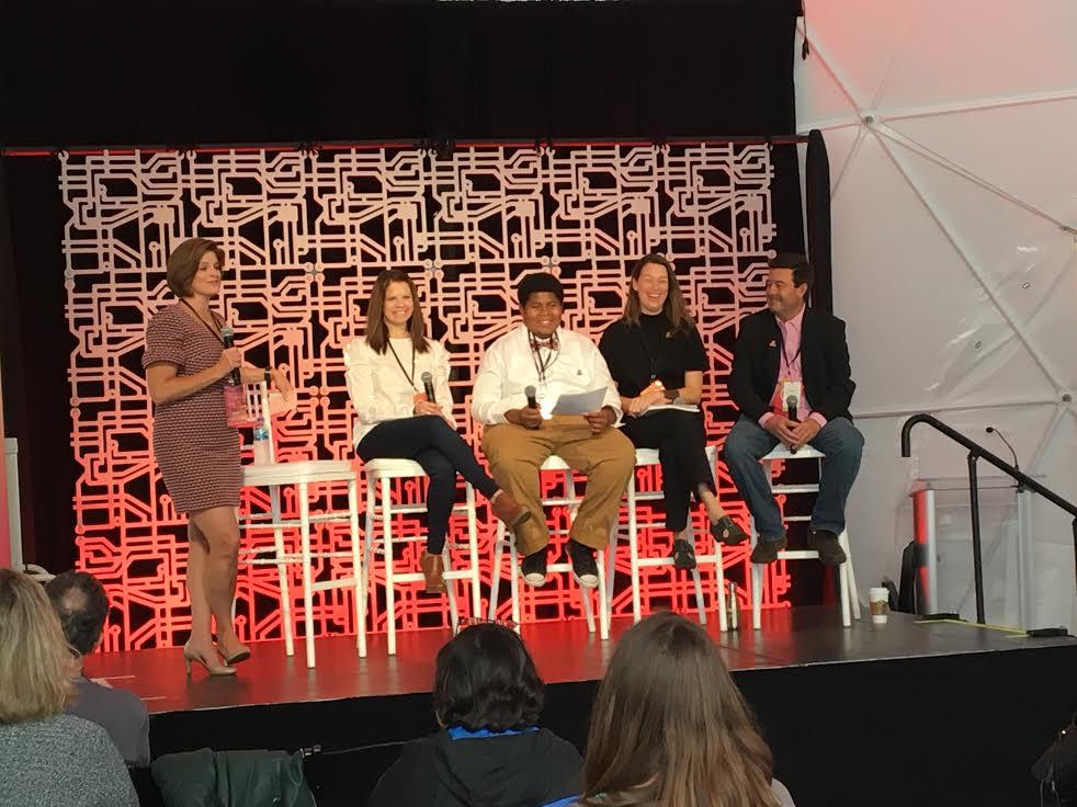 Left to right: Ally Donnelly, Robin Organ, Sahmir Russell, Valerie Sununu and Chris Buchanan.