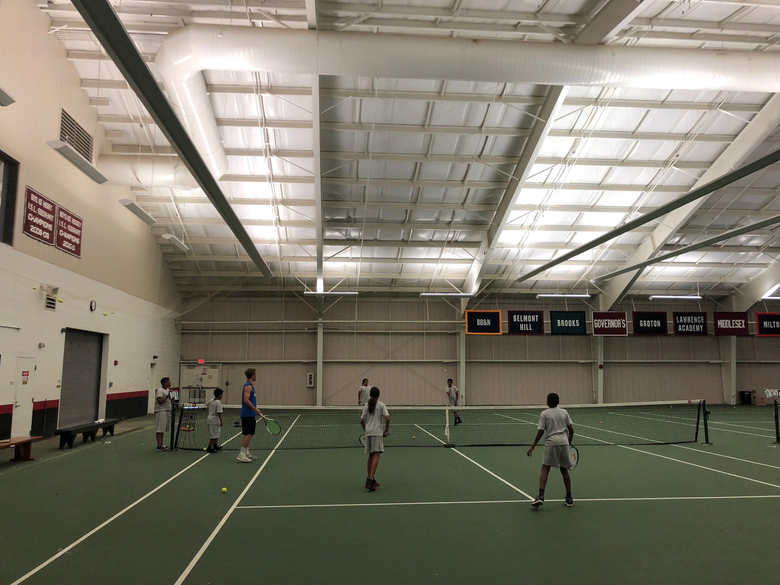 Playing tennis with Grey