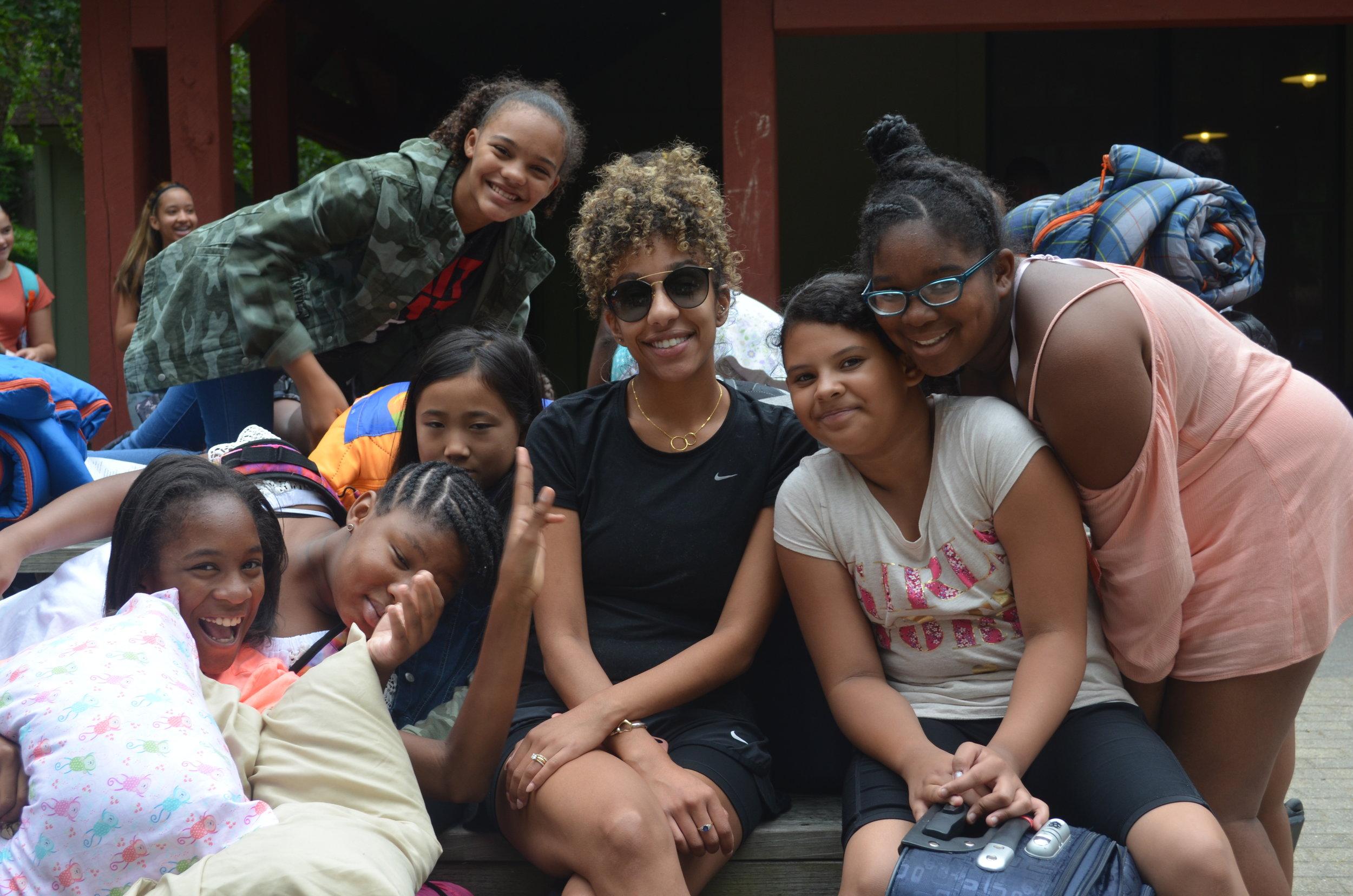 Mrs. Baptista and the 6 grade girls