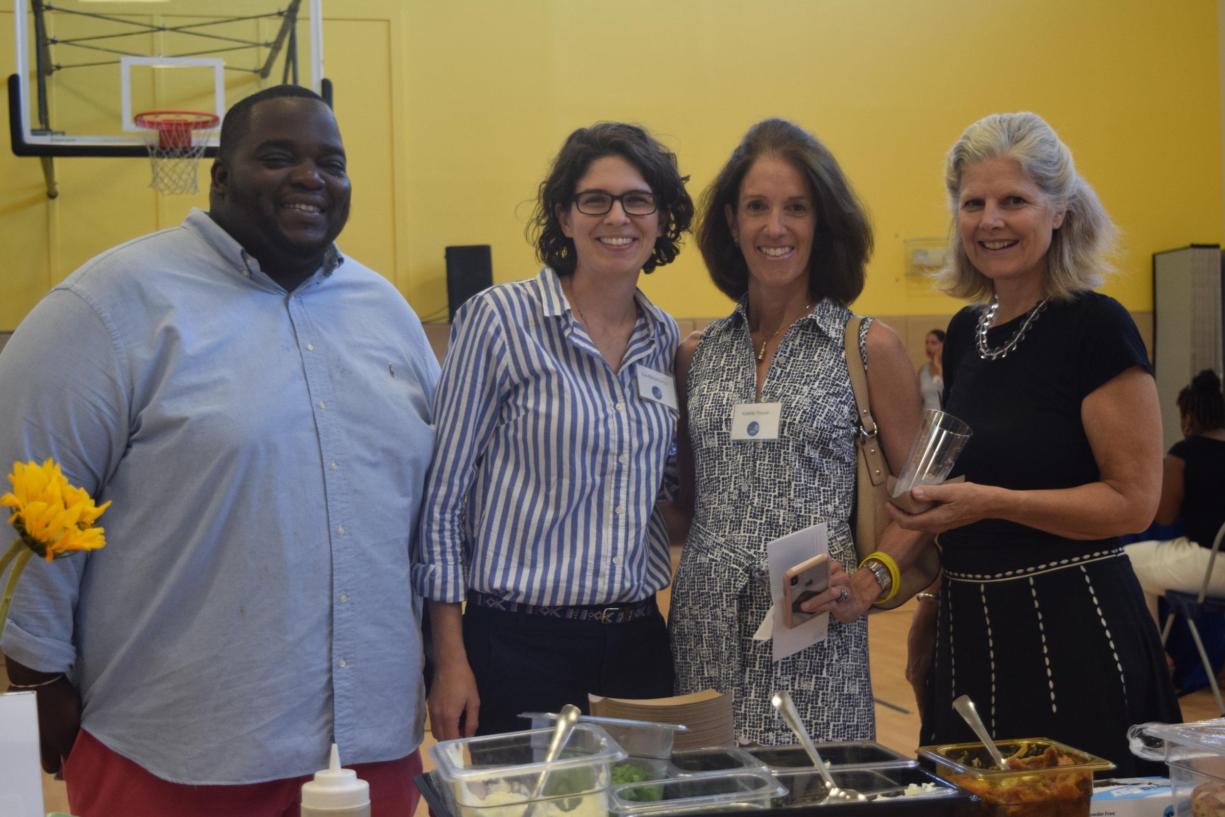 Chef Tey, Chef Sue, Valerie Thayer, Jane Nelson