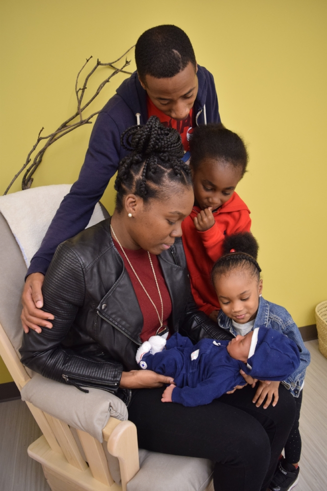 Home-visits - To support families' physical, social and emotional well-being to ensure healthy brain development of their babies and minimize risk factors, like toxic stress, associated with controllable developmental delays.