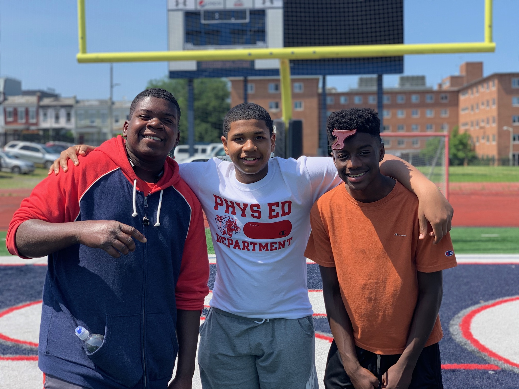 Peterson, Micah and Joshua at Howard University