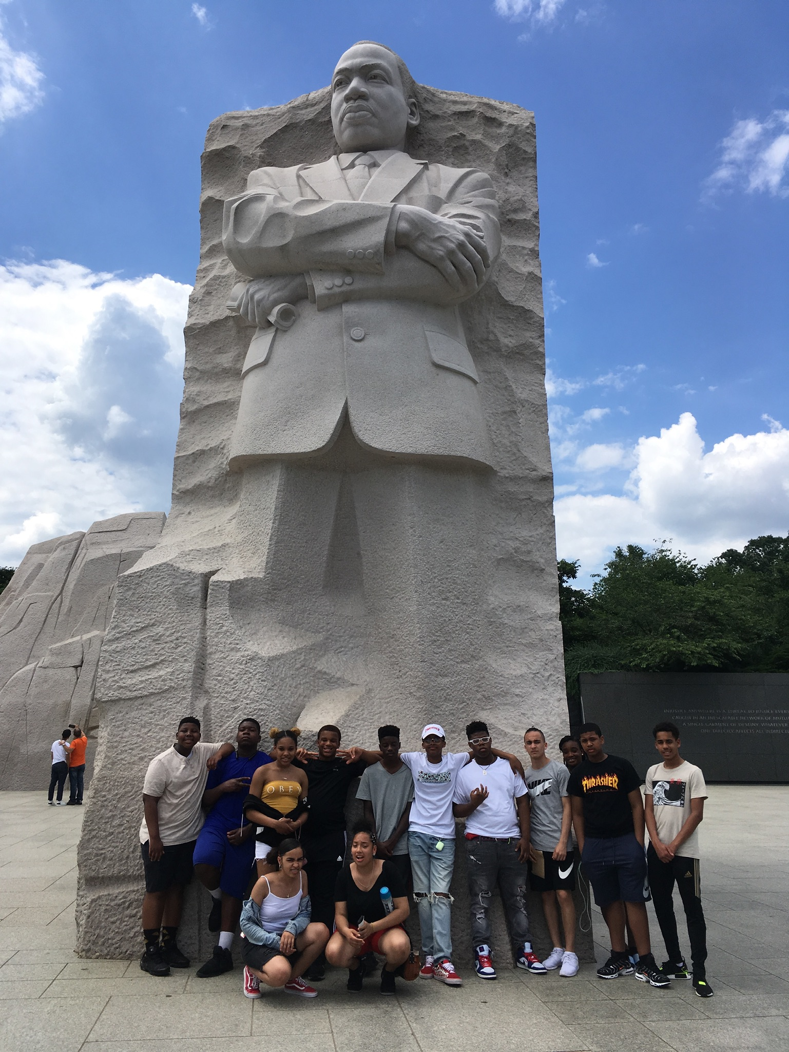 Posing with Martin Luther King Jr.