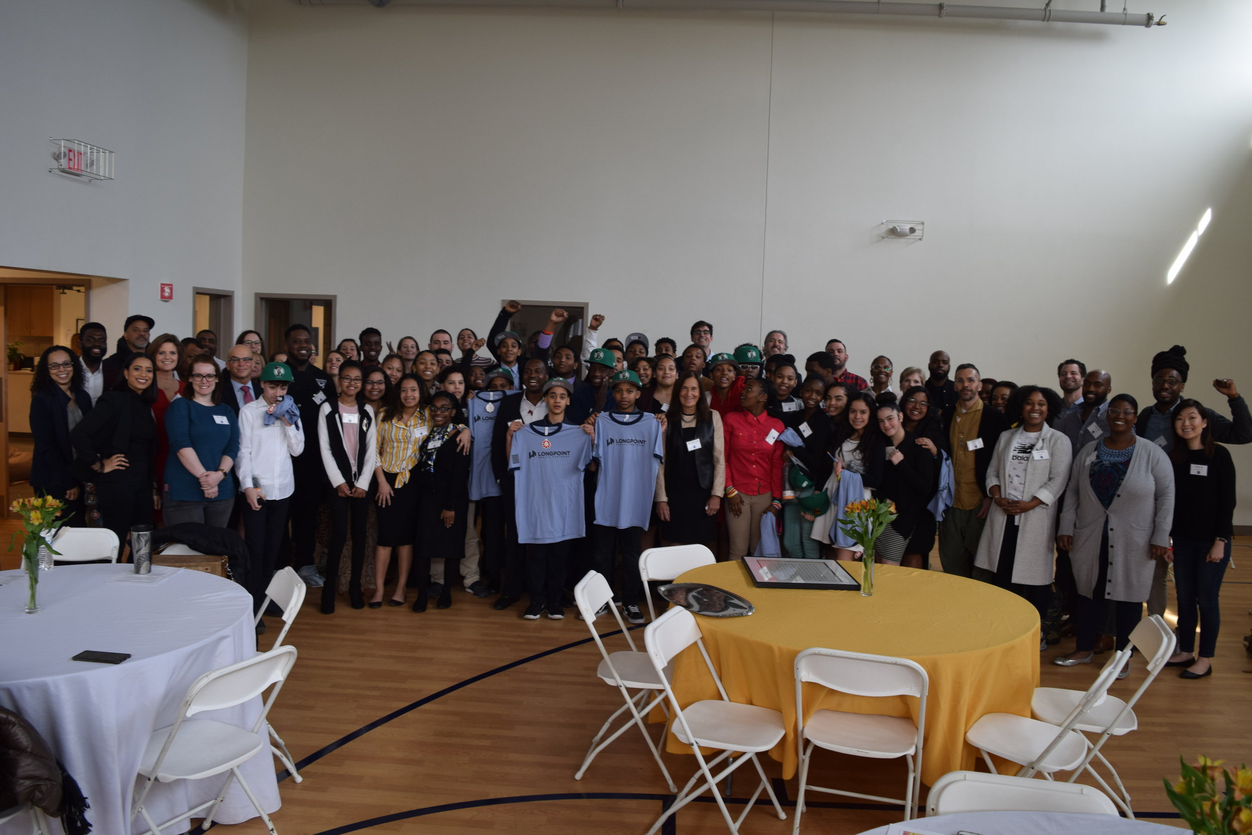 The Career Day participants, our 7th & 8th graders, and faculty & staff.