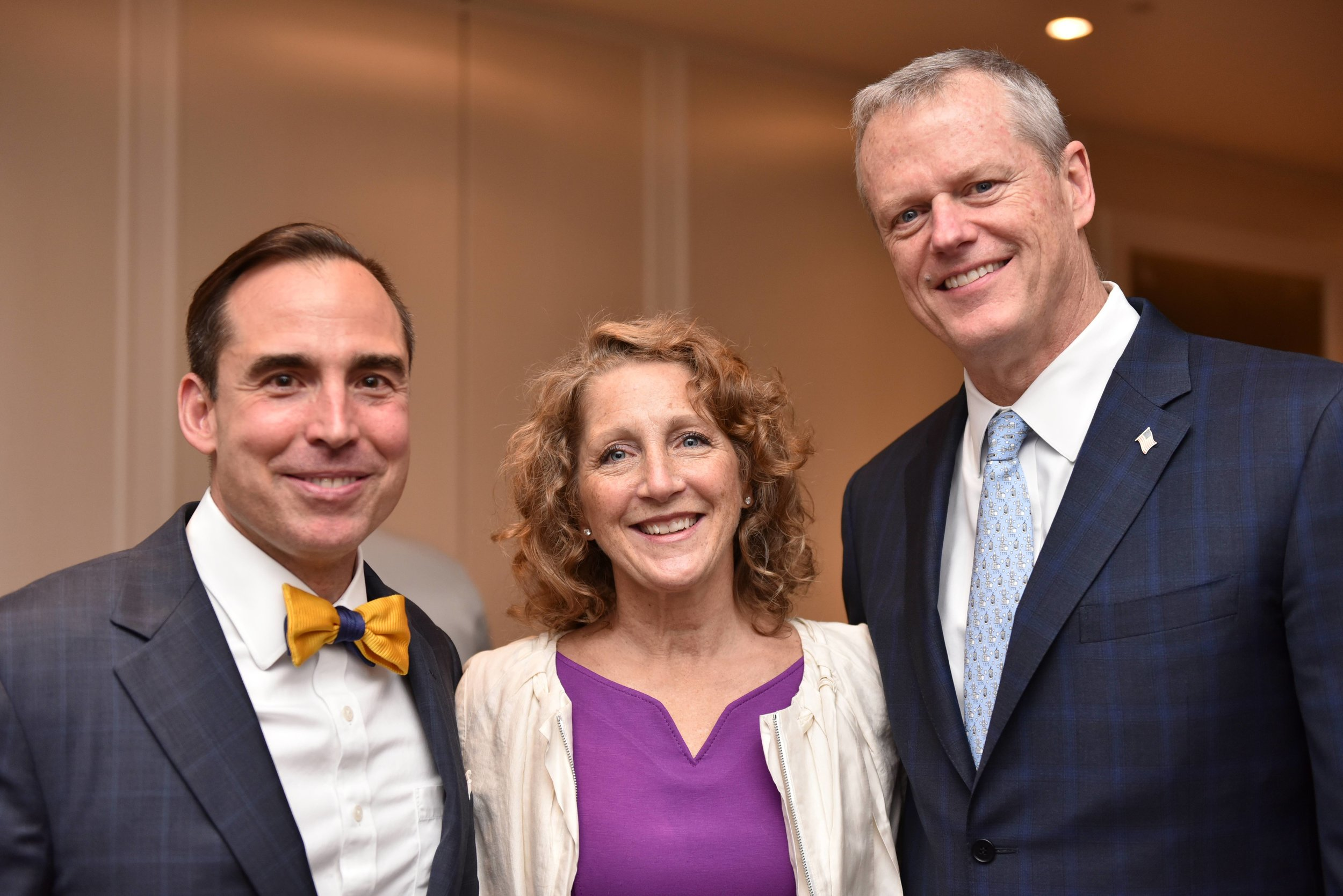 Rev. Finley with First Lady Lauren Baker and Governor Charlie Baker.