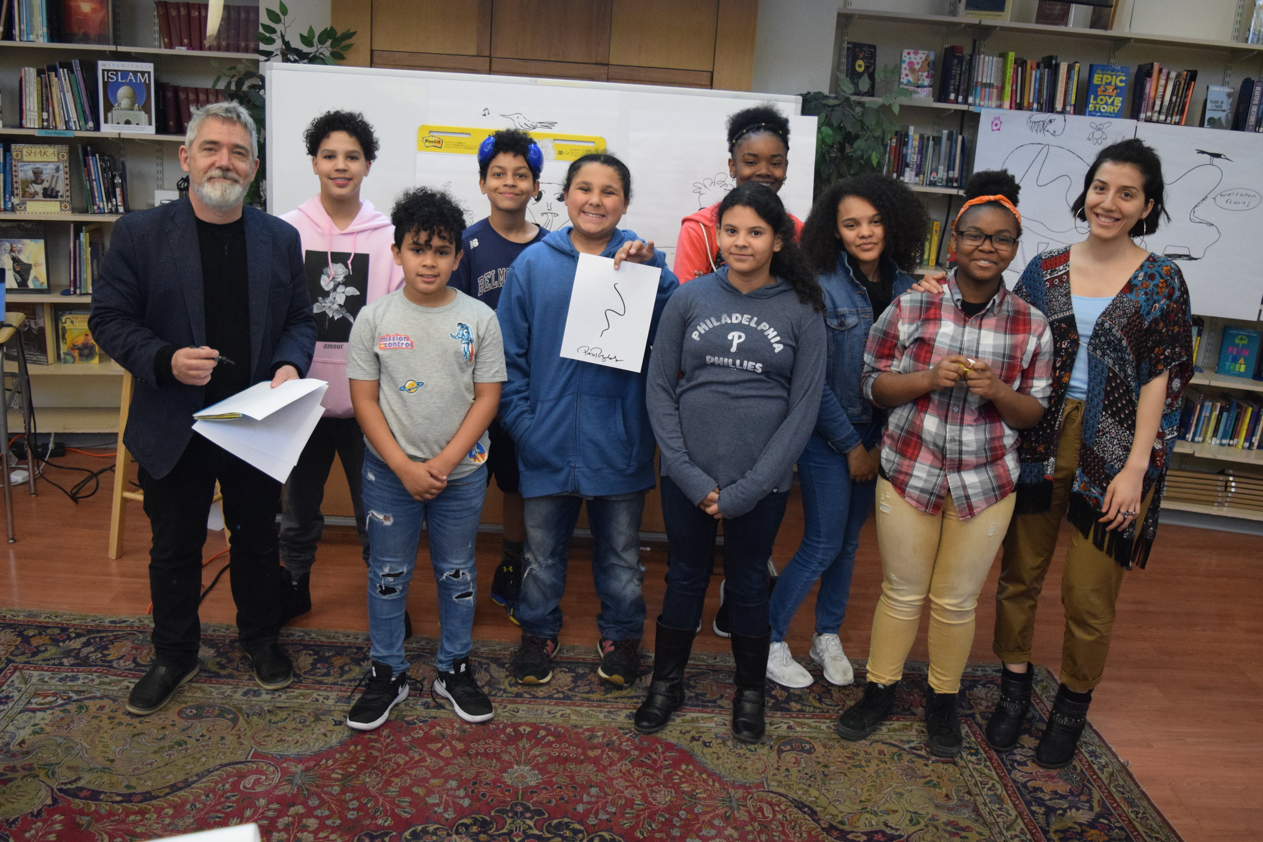 Peter Reynolds with the Illustration Arts Elective .
