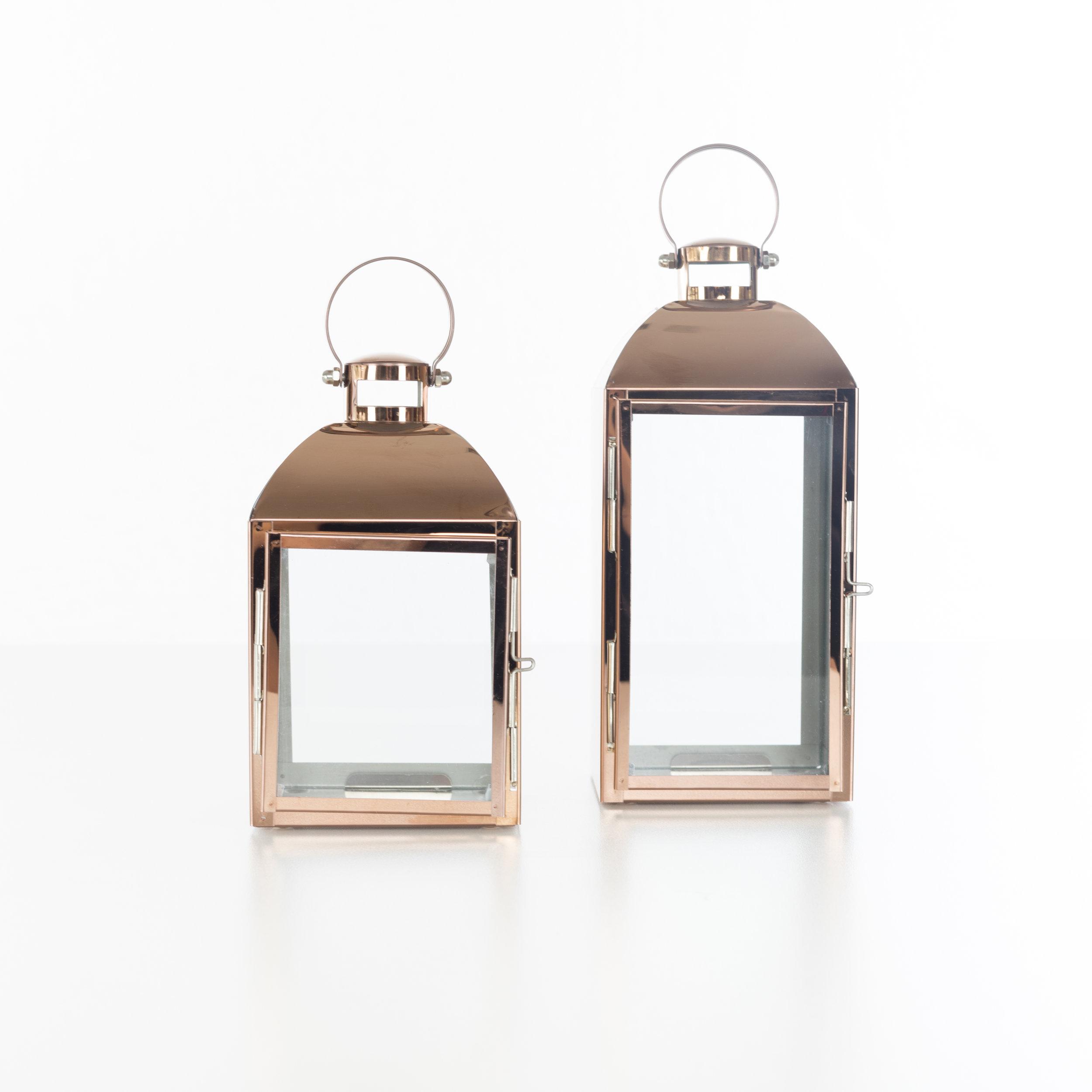 Modern Copper Lanters