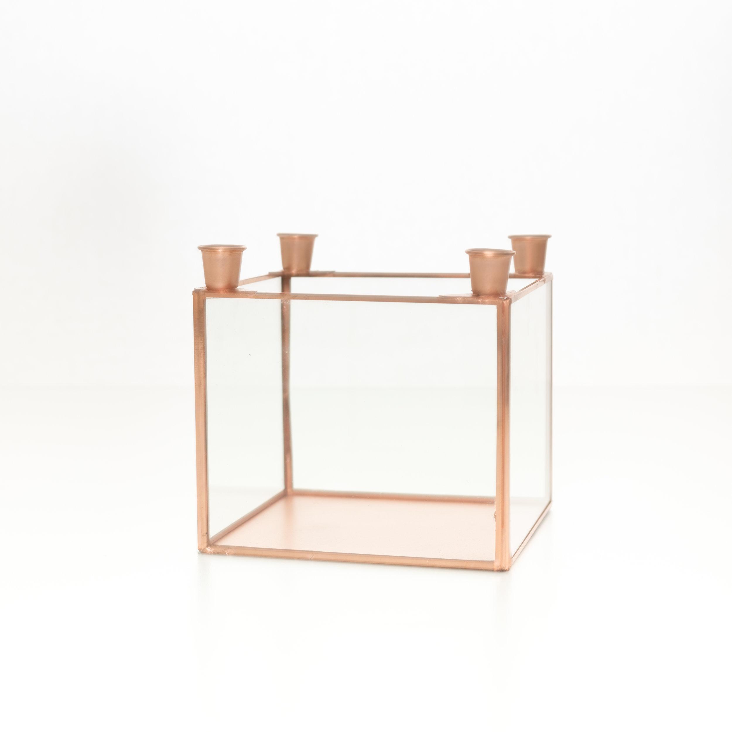 Copper candelabra