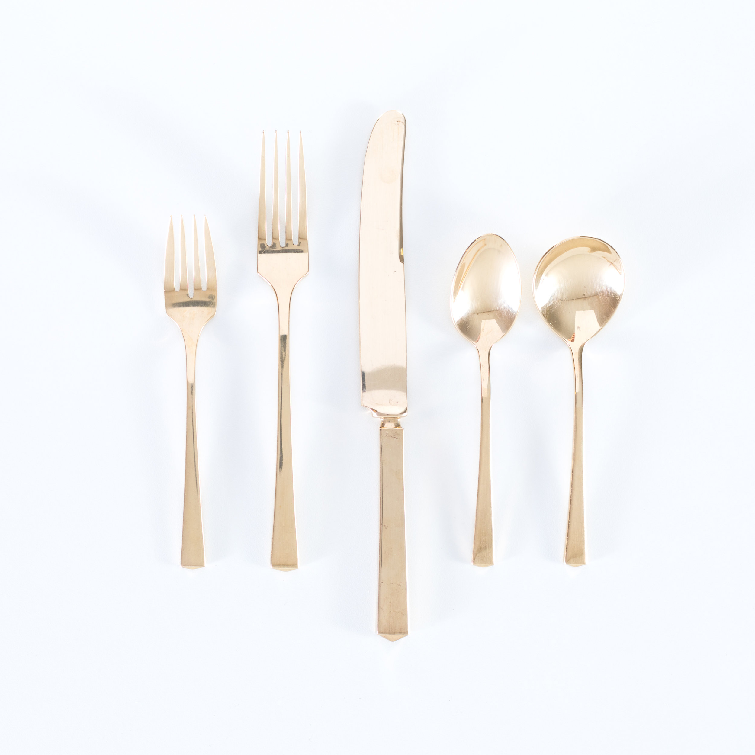 Vintage Gold Silverware COllection