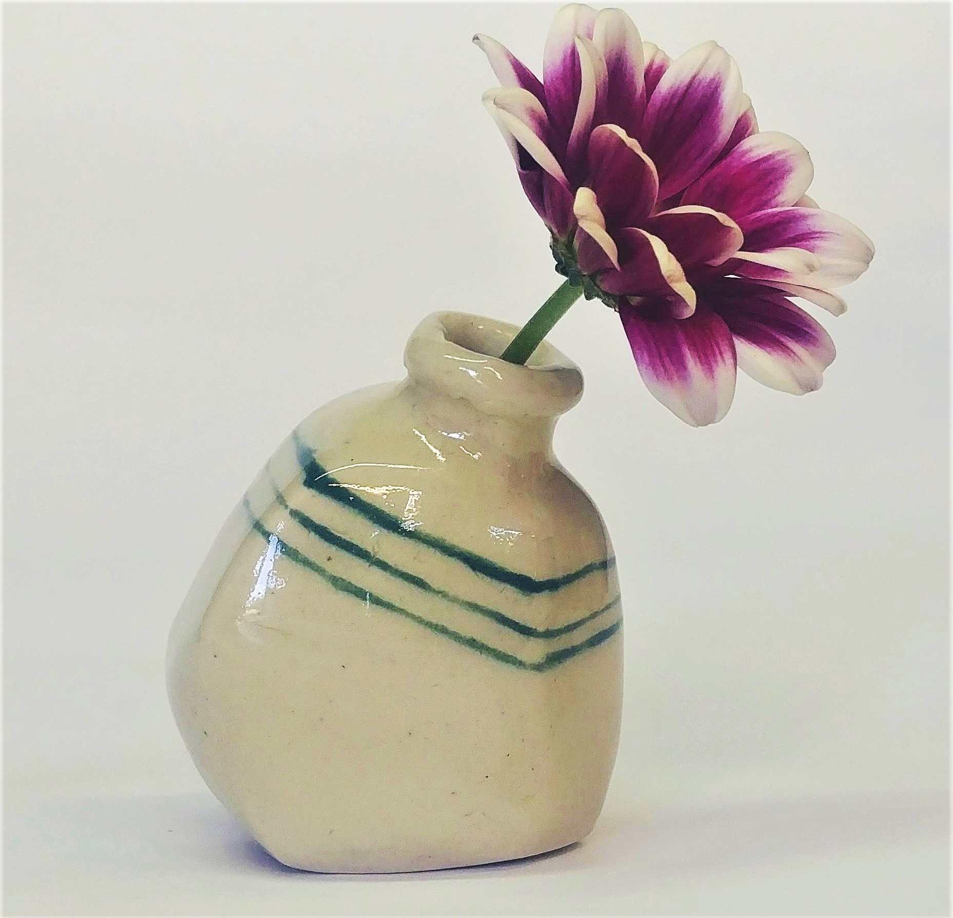 Hand built vase created in a mini workshop.