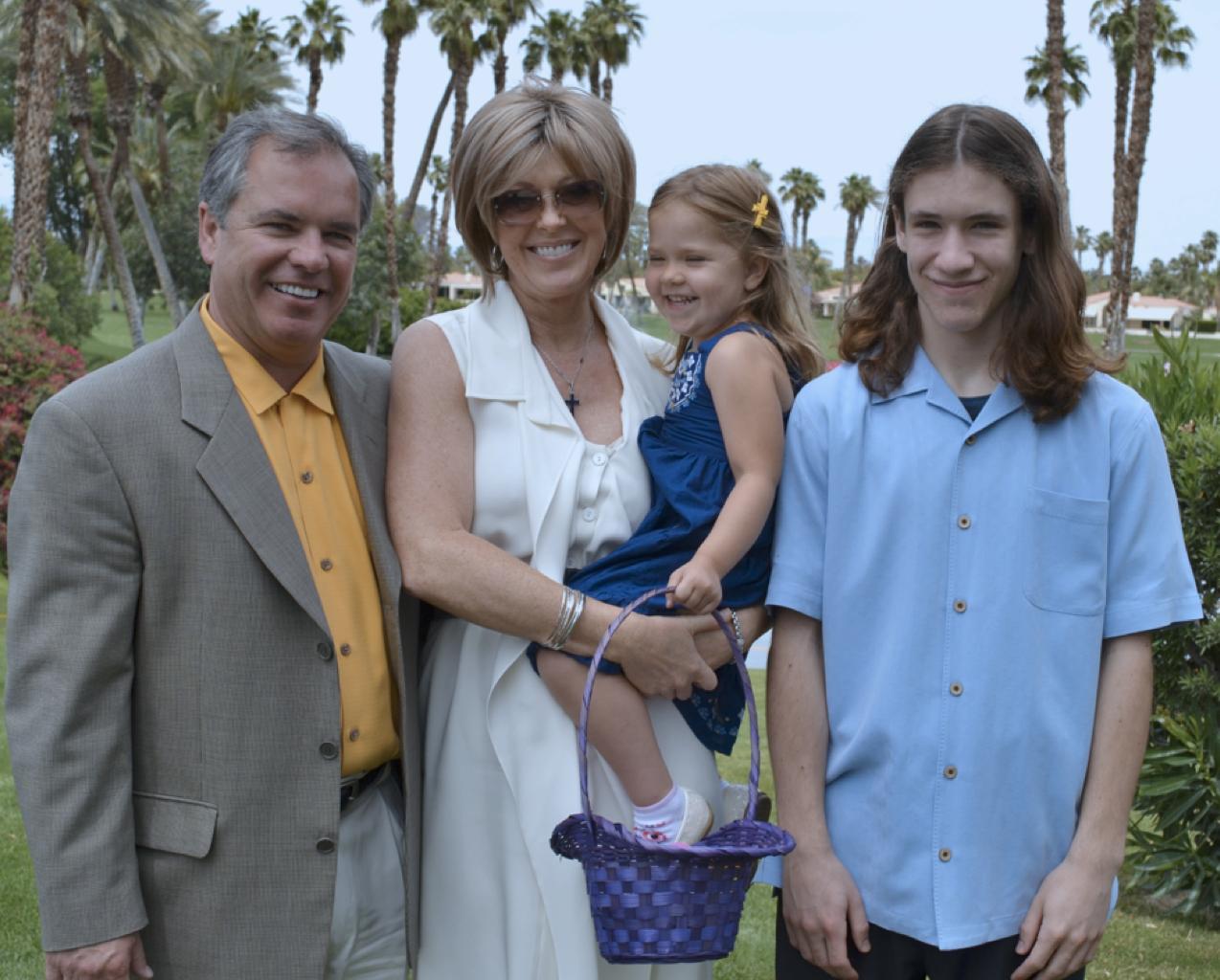 Bruce, Charlene, Caitlyn & Brandon Mullen, April 2011.