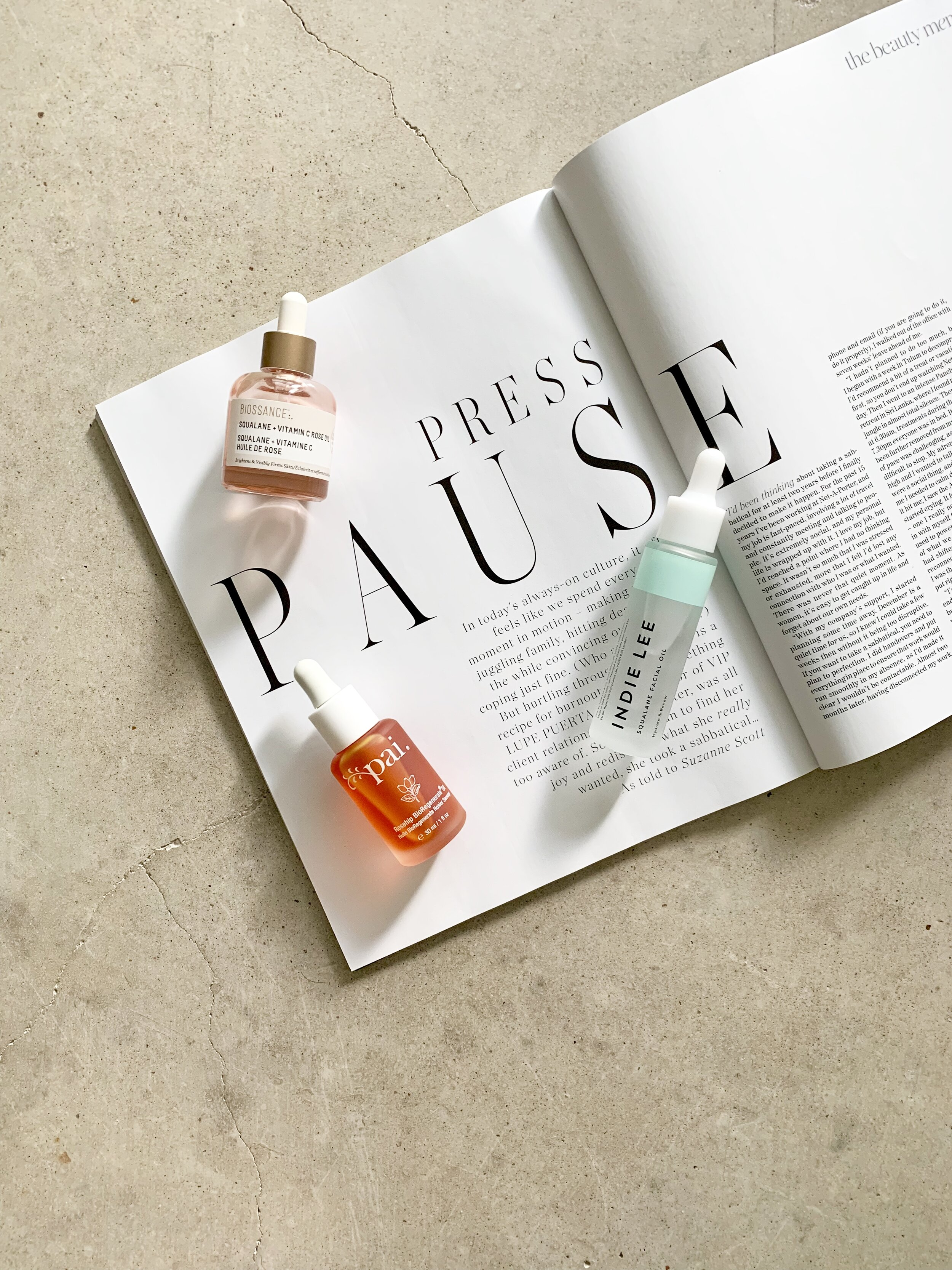 SAVING FACE - Because there is nothing like a good face oil to come to our skin's rescue.