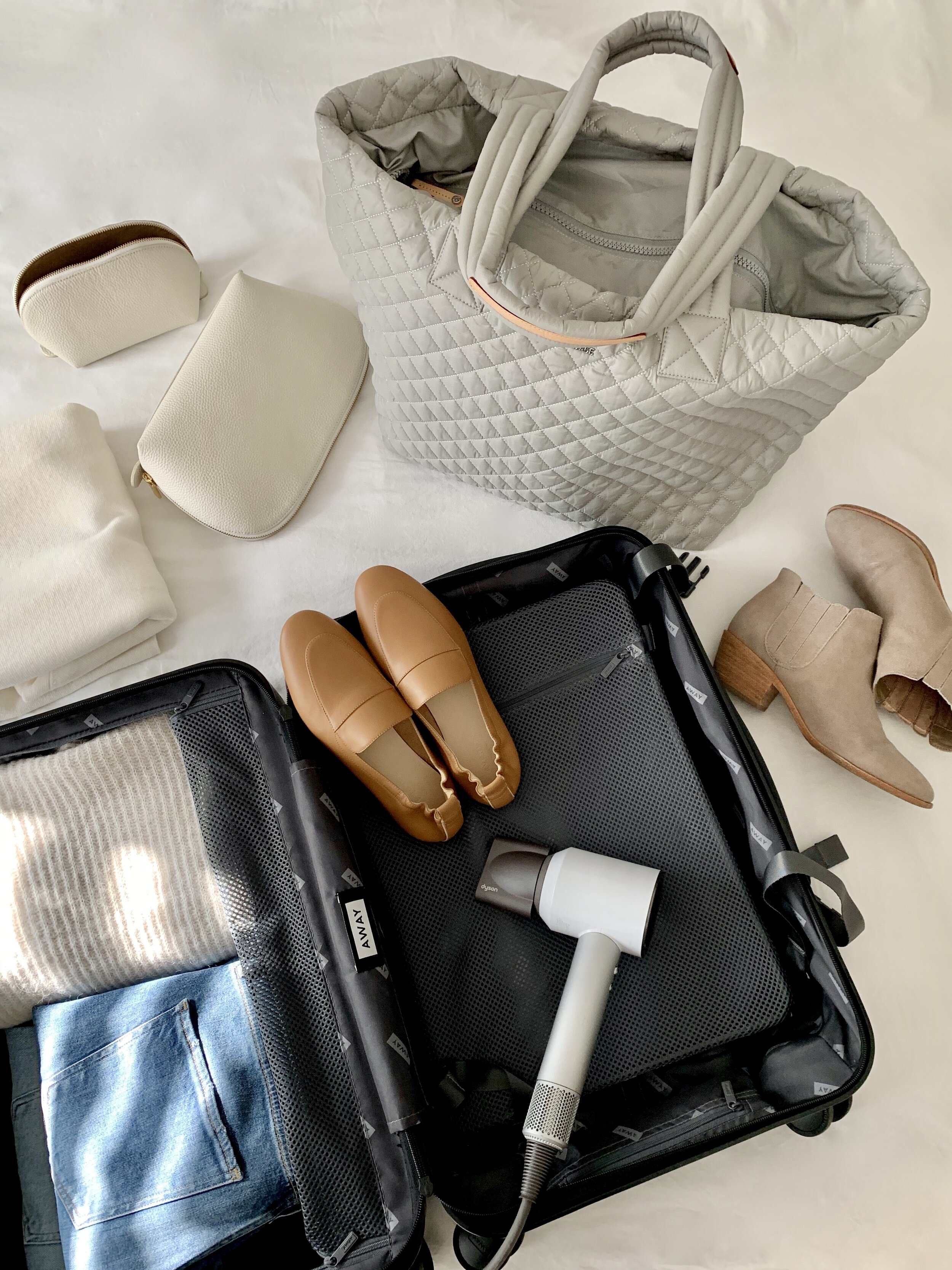 EVERYTHING IN PLACE - A few travel essentials to keep everything organized.