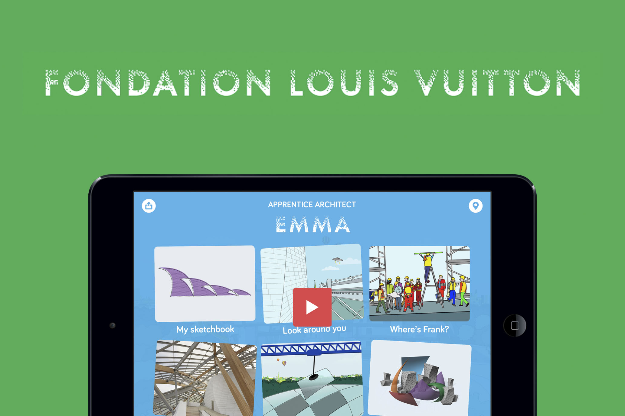 Apprentice Architect  – a kids app for the Foundation Louis Vuitton in Paris