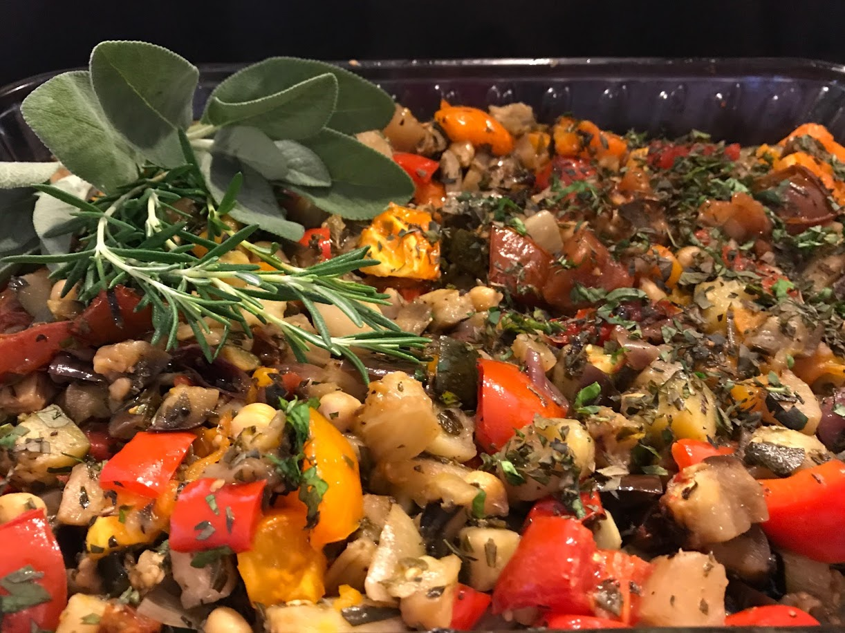 Ratatouille roast, garnish.JPG