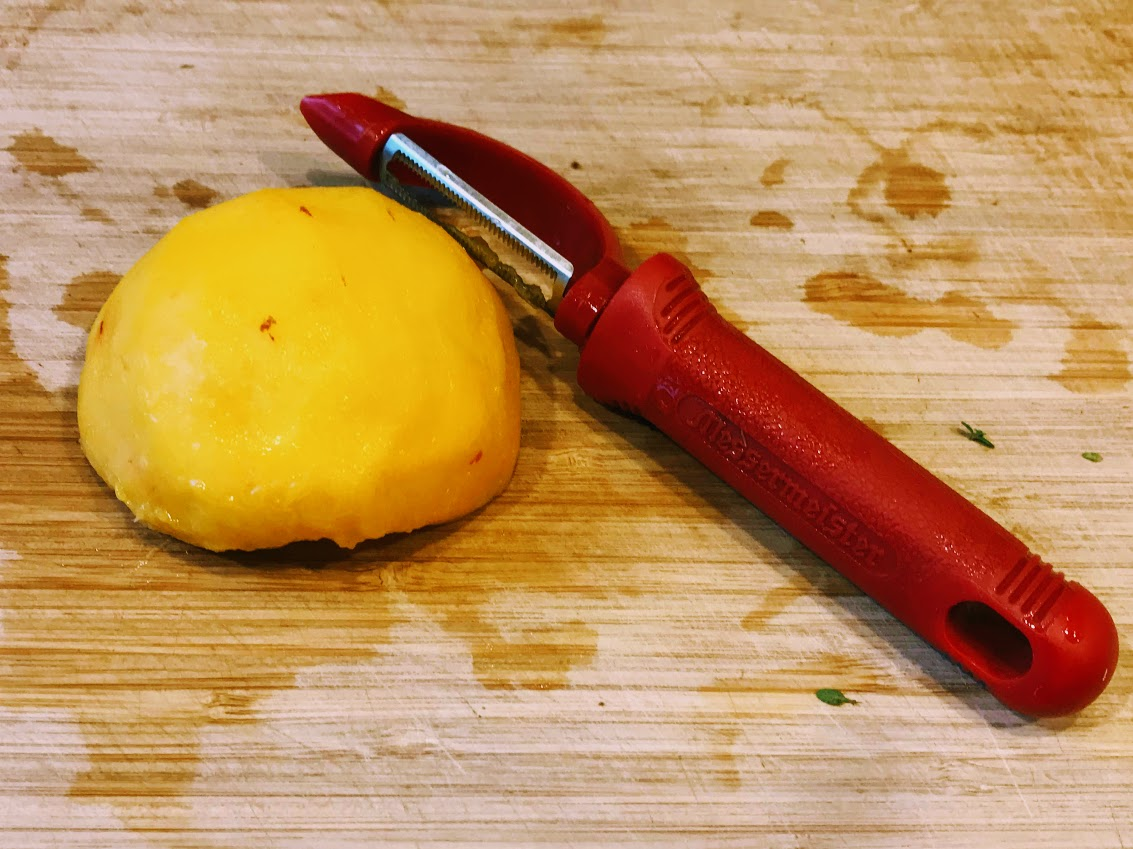 For easy peeling use a searated tomato peeler.