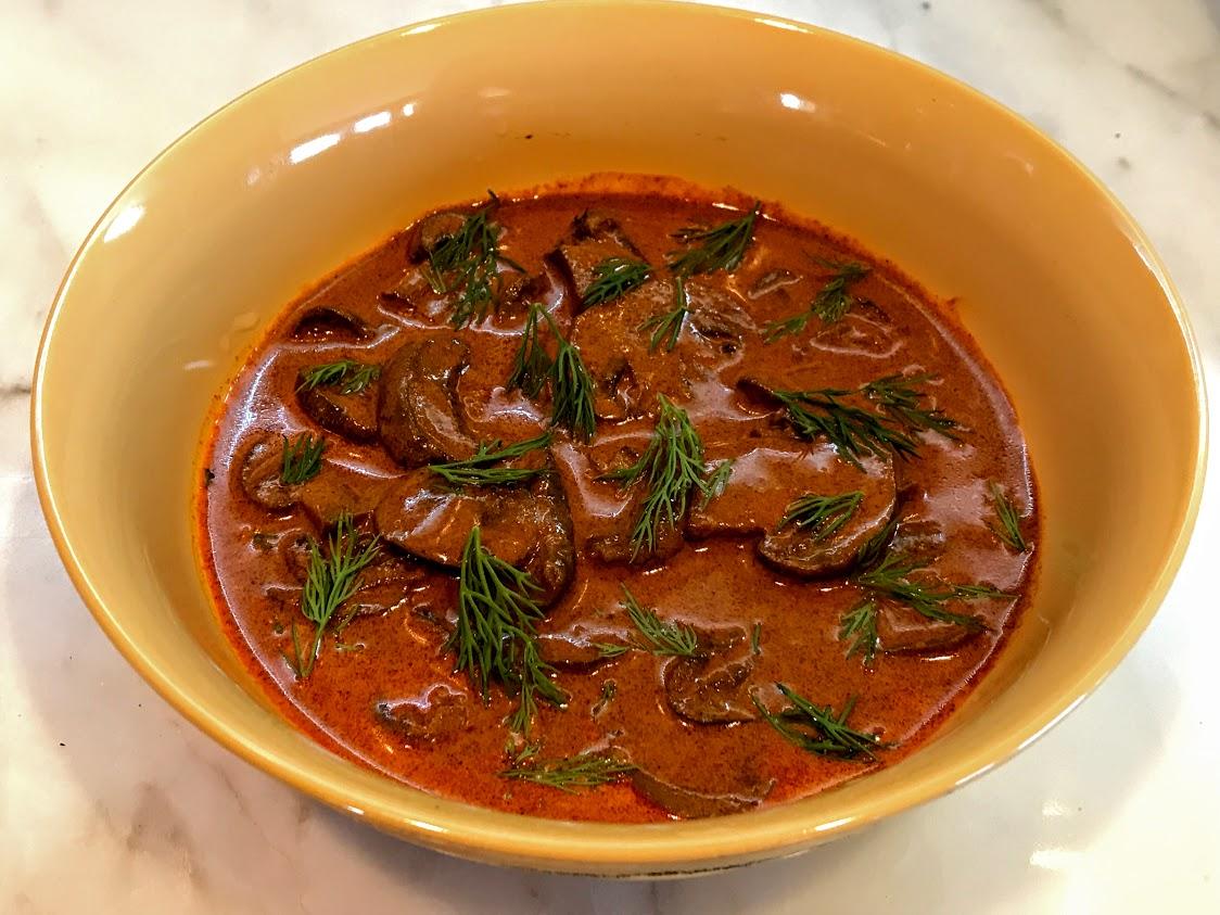 Hungarian Mushroom Stew - chefsharingthetable.com