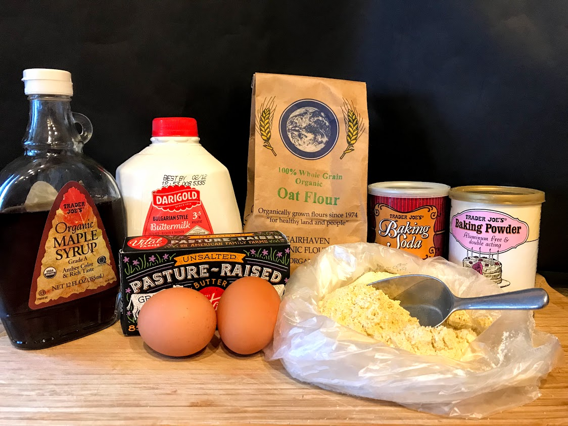 See notes on how to easily make your own oat flour.