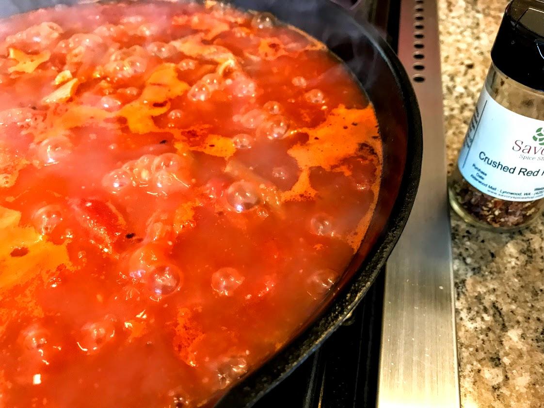 arrabbiata sauce simmering.jpg