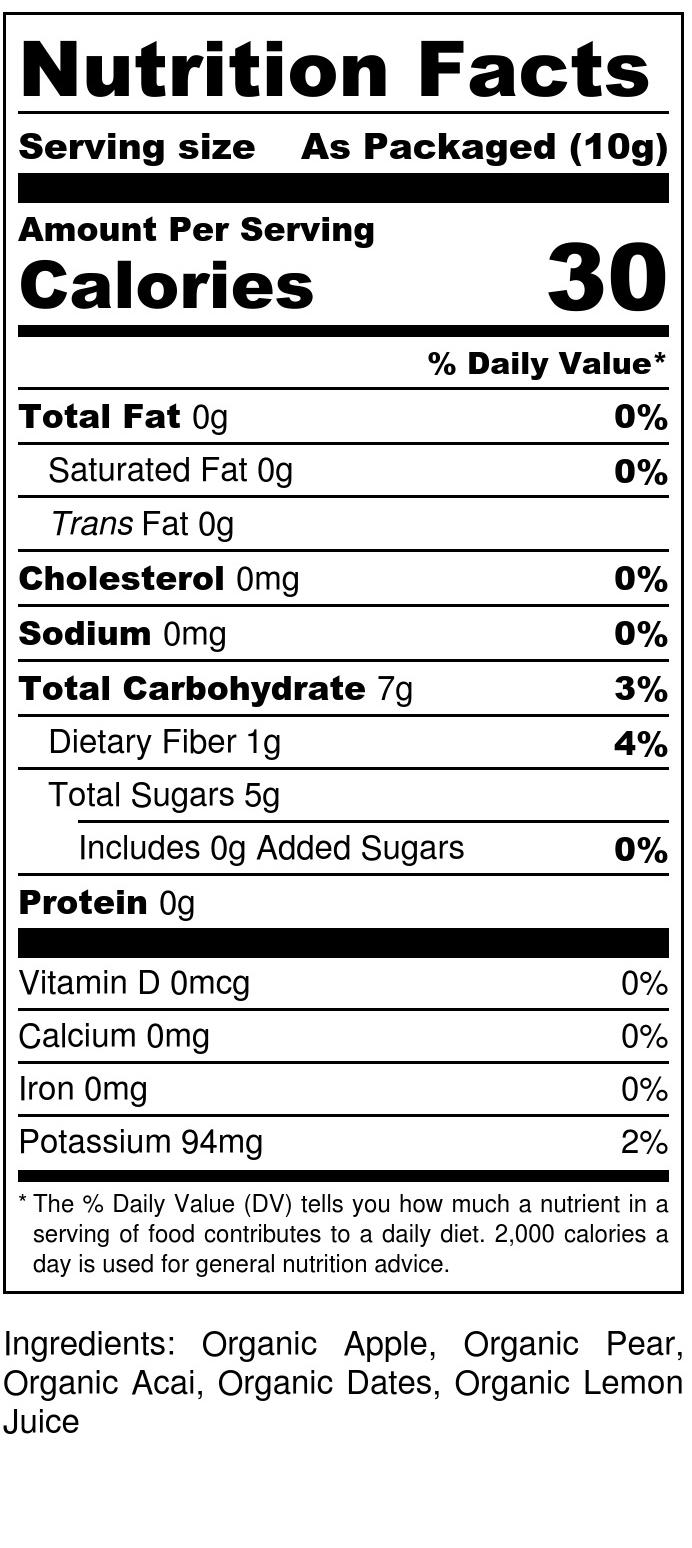 Apple + Acai Drizzle - Nutrition Label.jpg