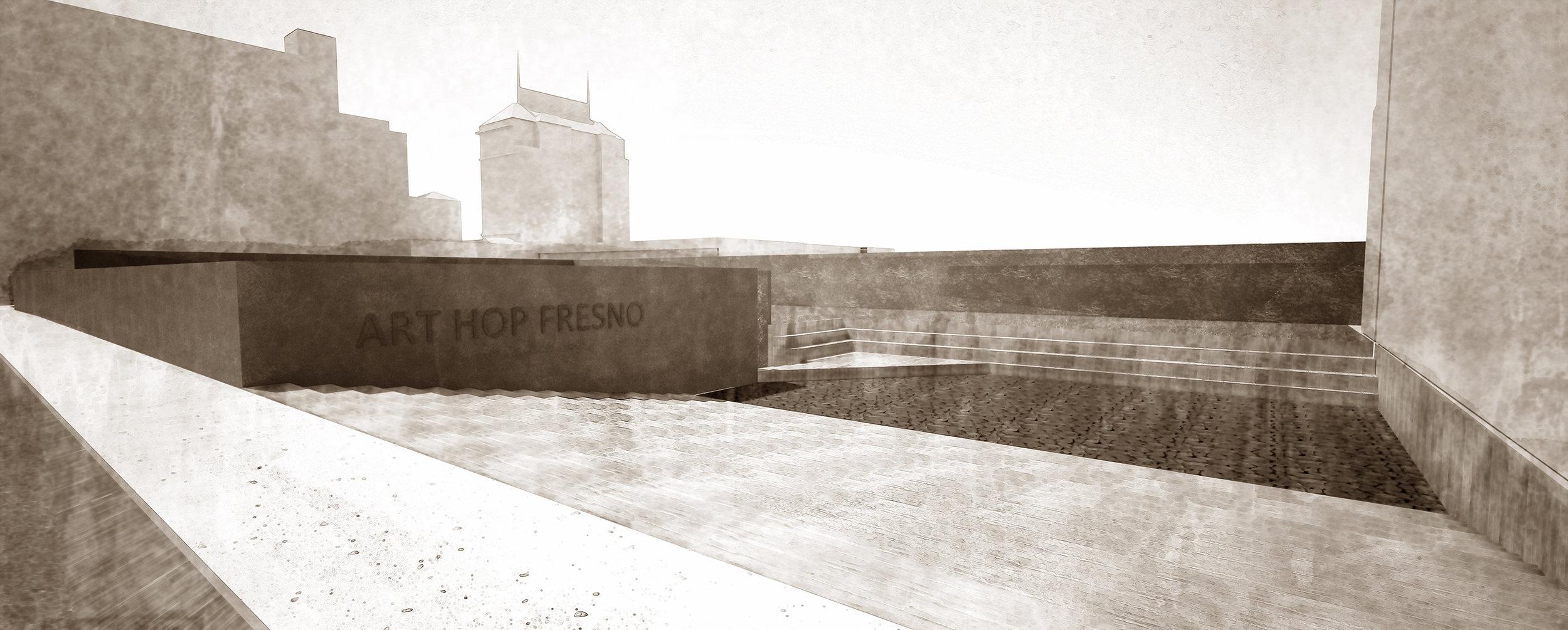 3. Instalation Space at Fresno Met's Yard