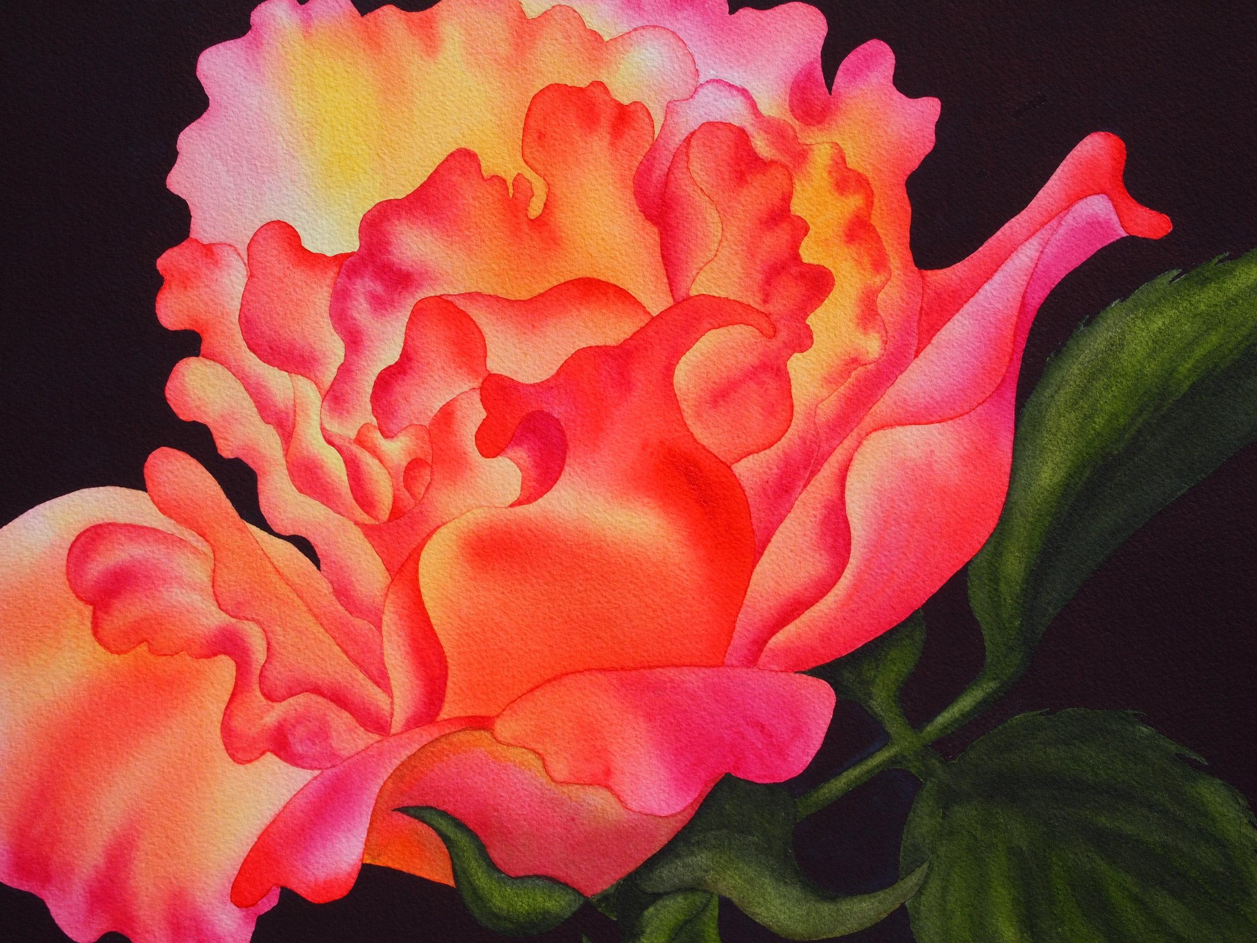 Barb Stevens Watercolors - Las Vegas Rose