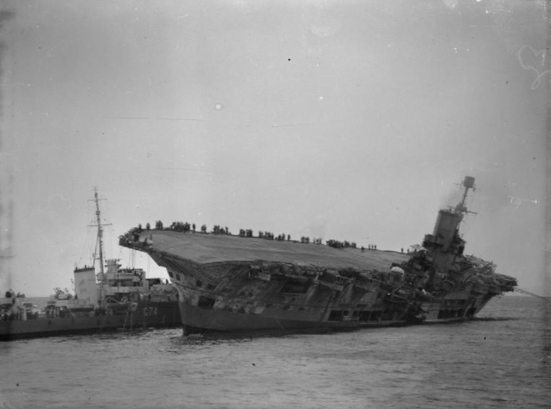 The HMS Ark Royal sinking