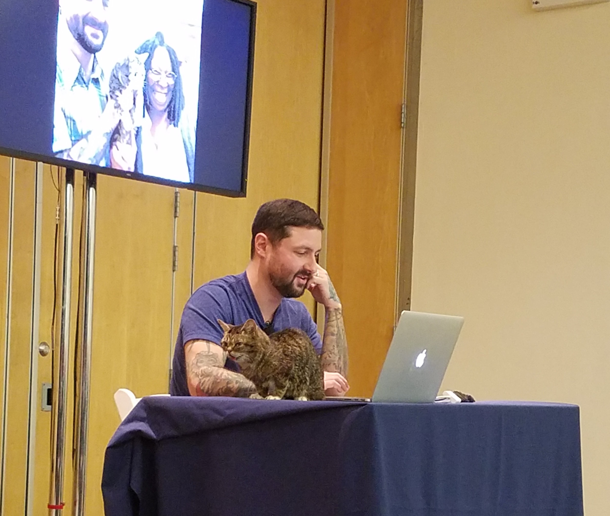 Slideshow photo of BUB meeting Whoopi Goldberg (who is a huge fan, naturally)